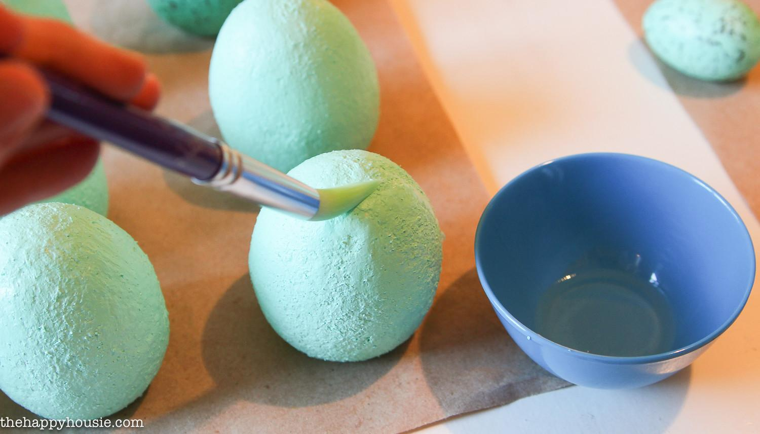 Diy Speckled Easter Egg Place Card Holders Happy Housie