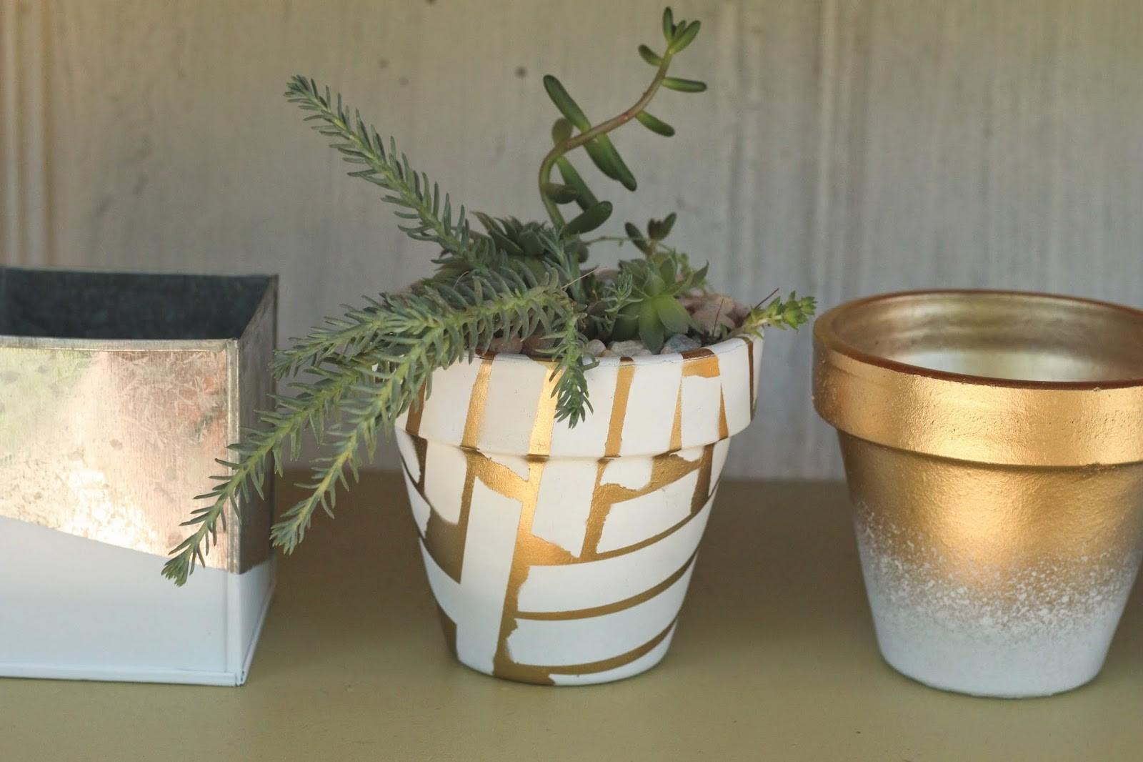 Diy Spray Painted Pots