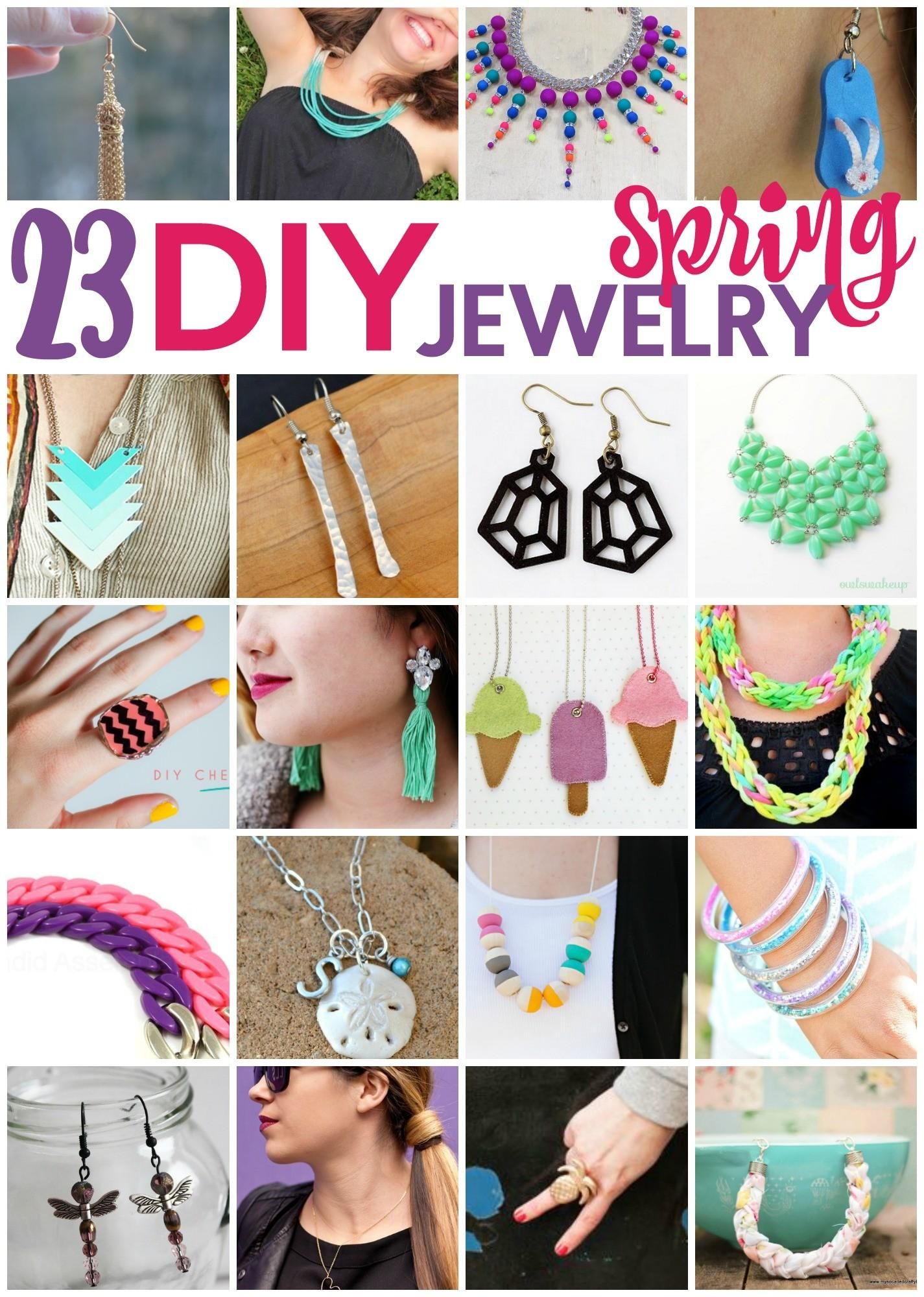 Diy Spring Jewelry Ideas Little Craft Your Day