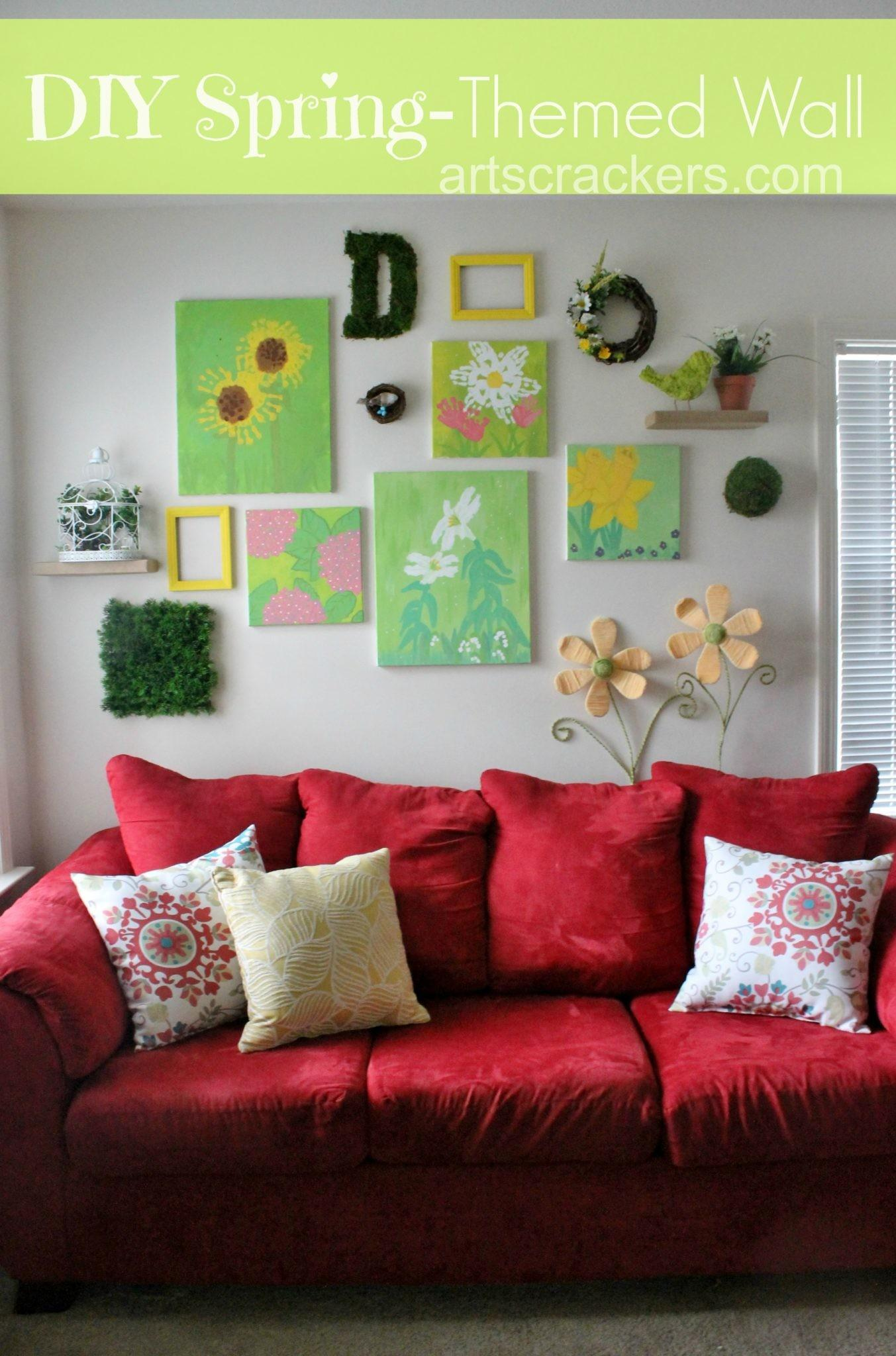 Diy Spring Themed Wall Collage