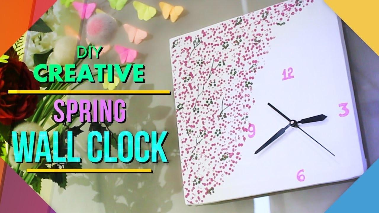 Diy Spring Wall Clock Home Decor Crafts Projects
