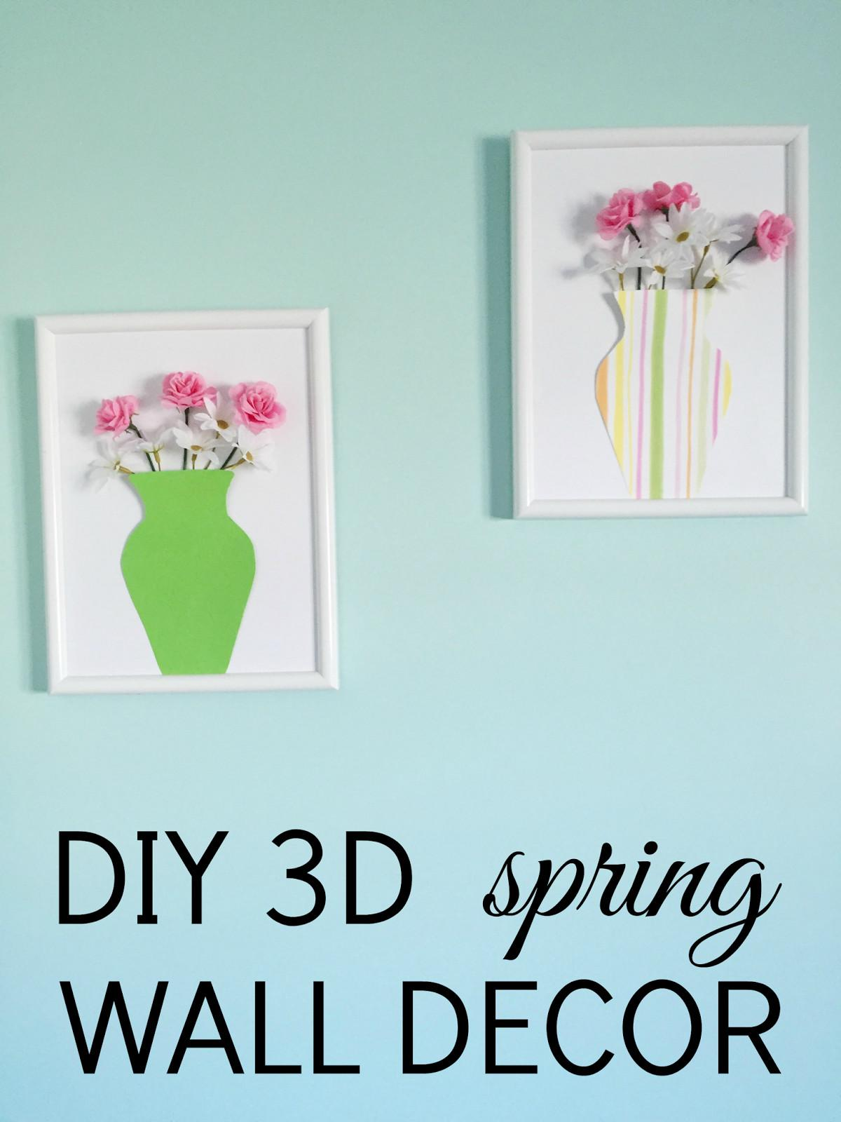 Diy Spring Wall Decor Monogrammed Life