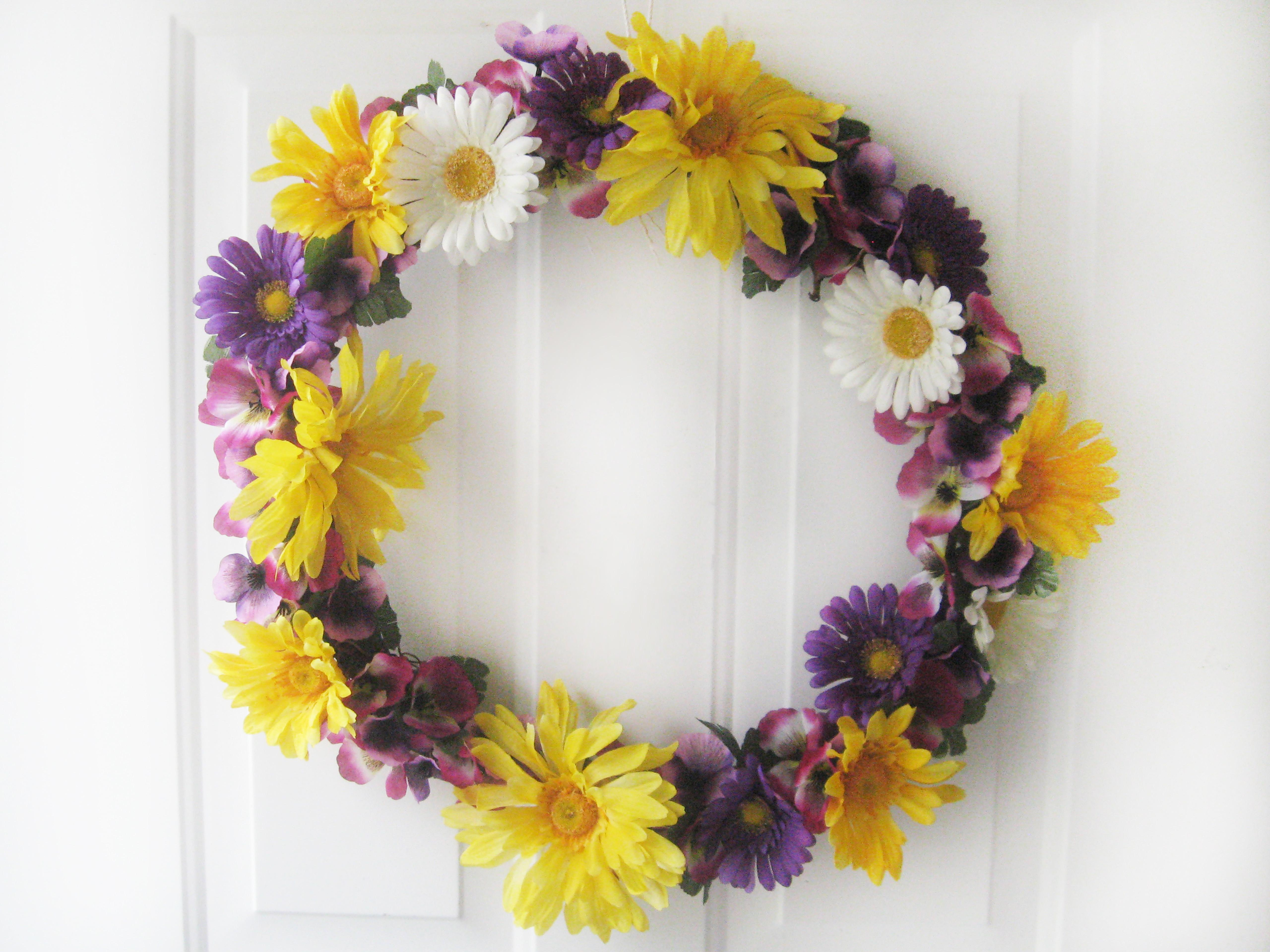 Diy Spring Wreath Flowers Make Something Mondays