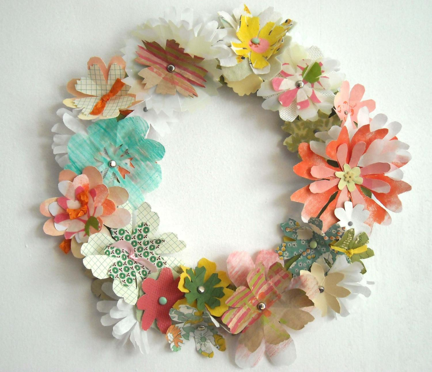 Diy Spring Wreath Yasabe Blog