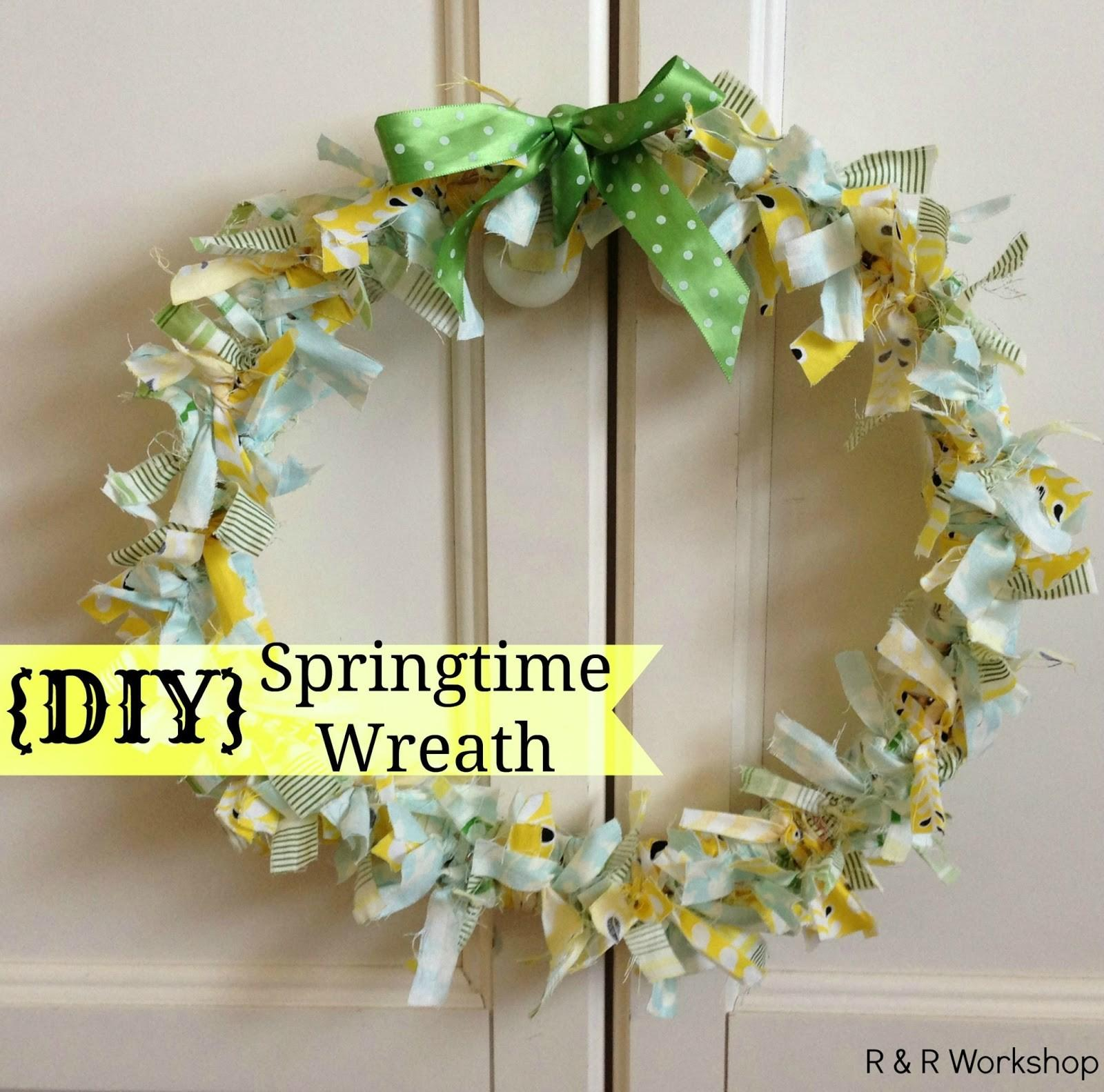 Diy Springtime Wreath Quick Easy Craft Idea Guest