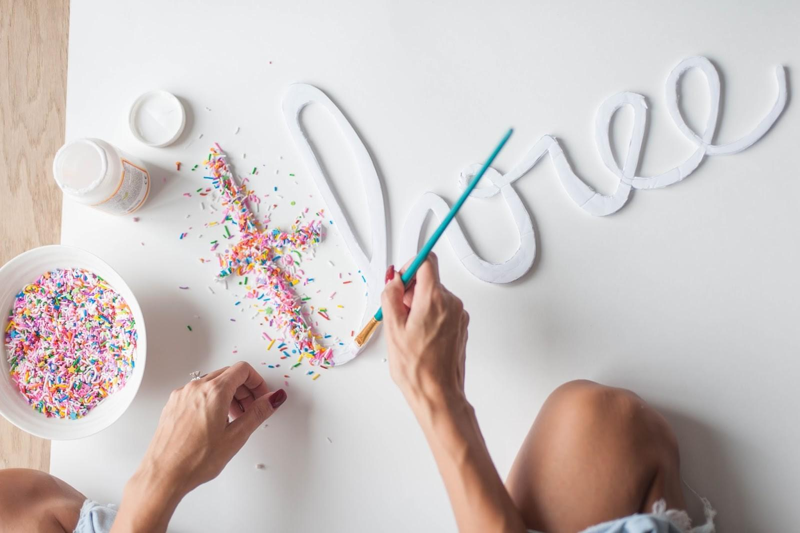 Diy Sprinkle Letters Party Parade