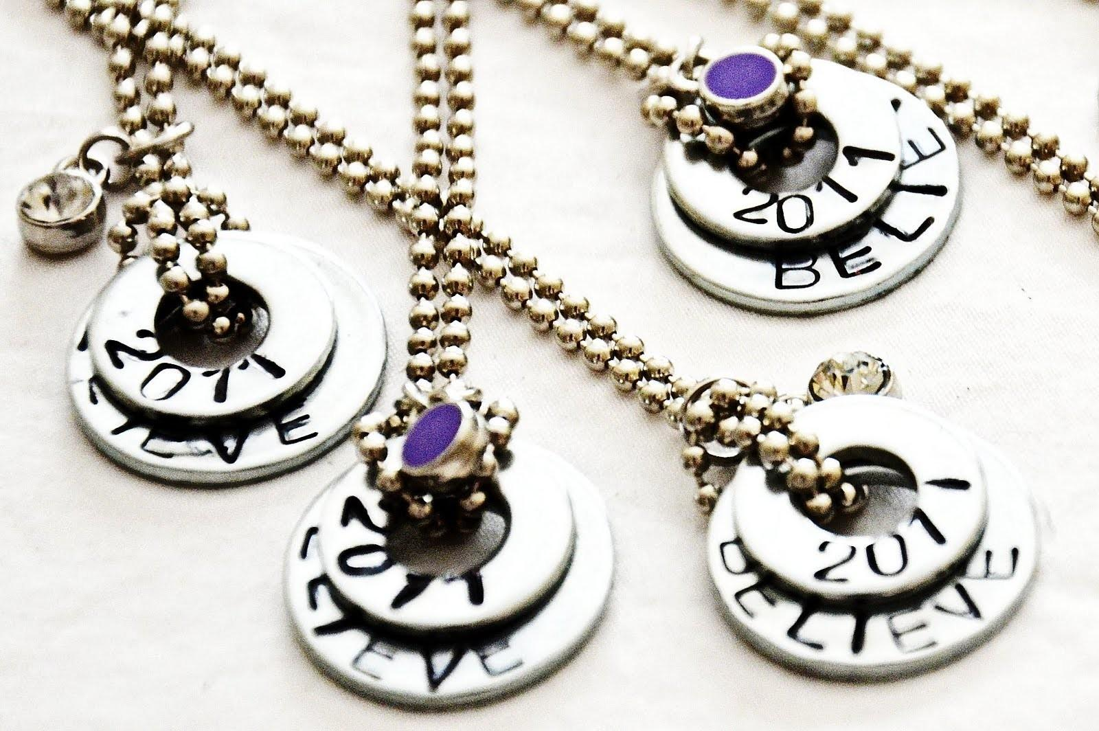 Diy Stamped Washer Necklaces 36th Avenue