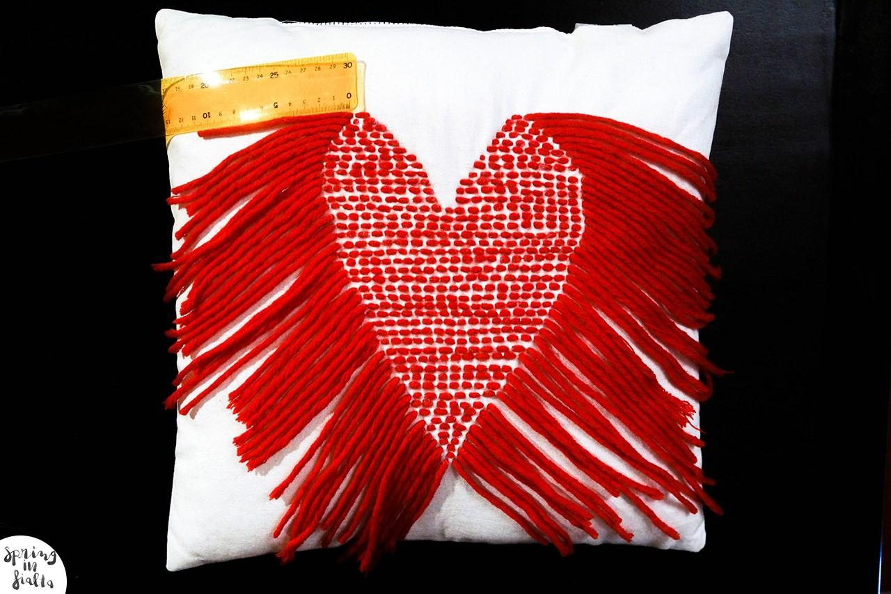 Diy Stitched Heart Pillow Spring Fialta