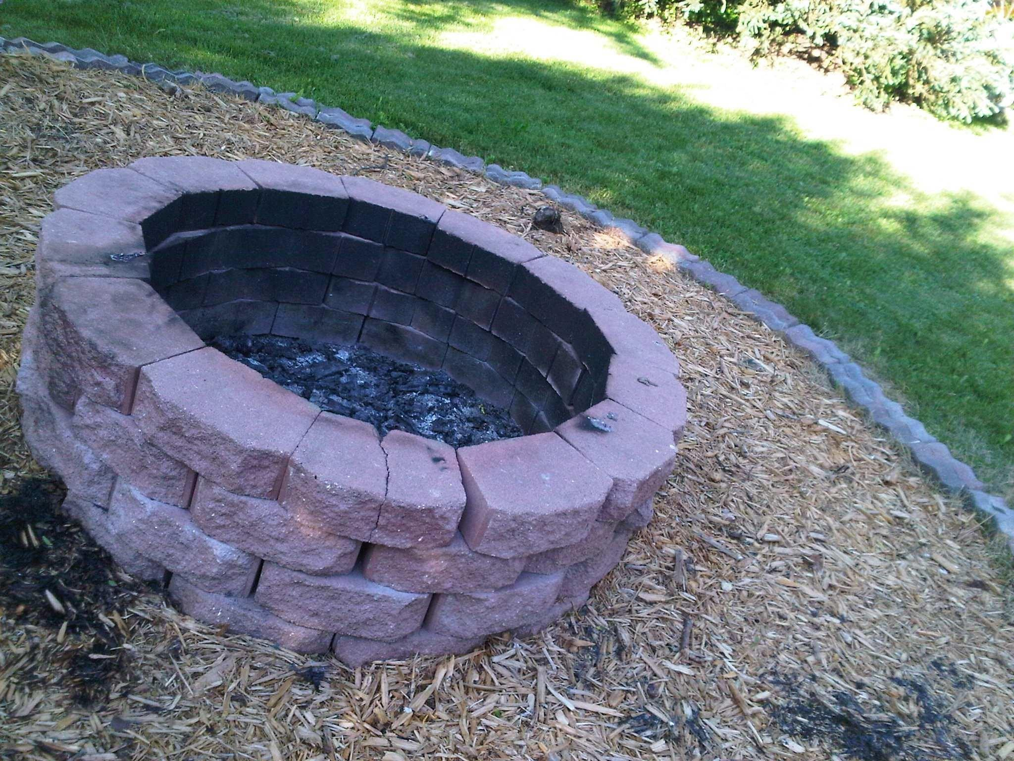 Diy Stone Fire Pit Build Fresh Home
