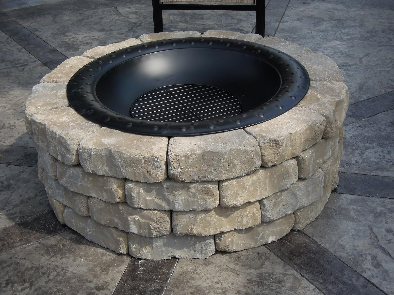 Diy Stone Fire Pit Decoration Exterior Immaculate White