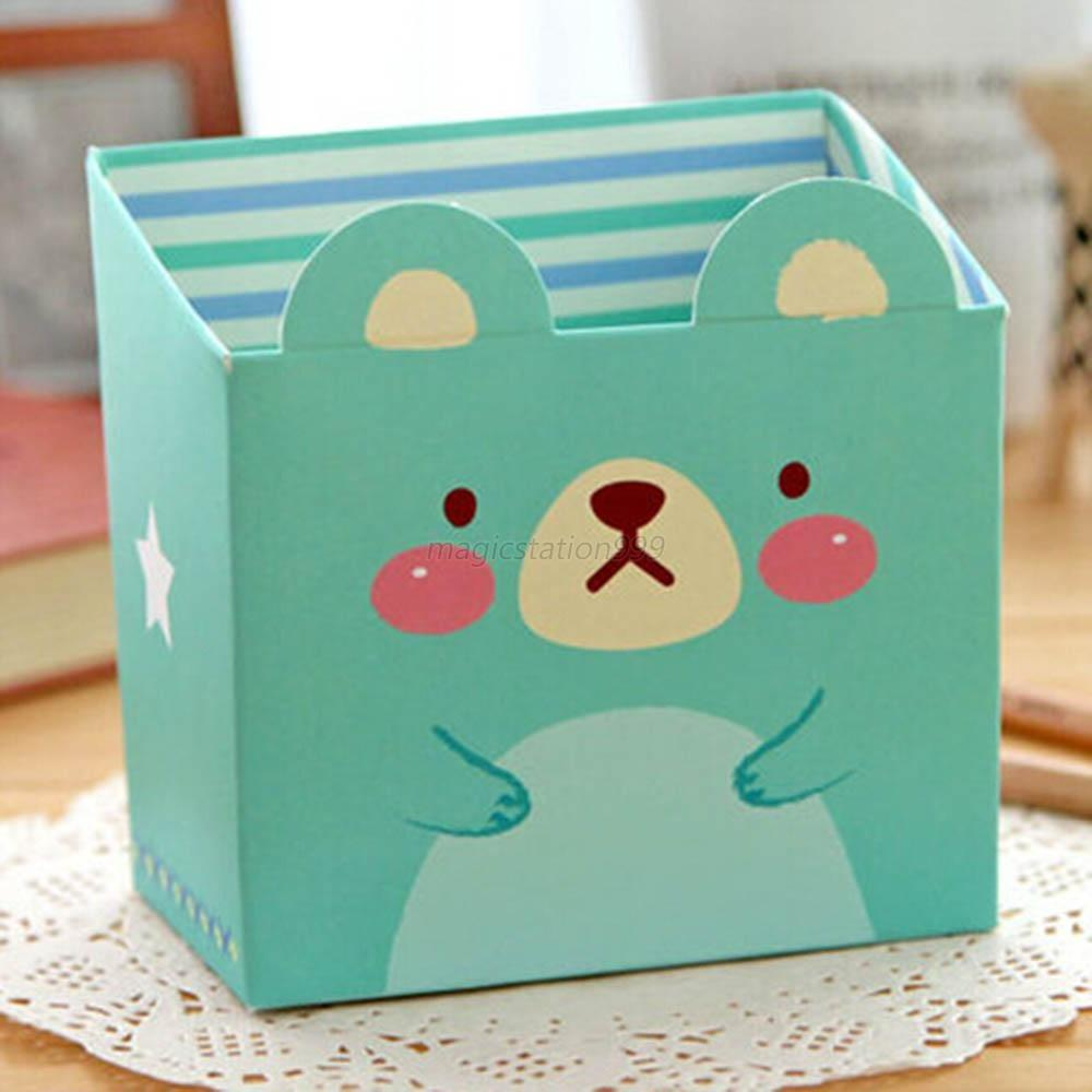 Diy Storage Box Cute Cat Cartoon Paper Stationery Makeup