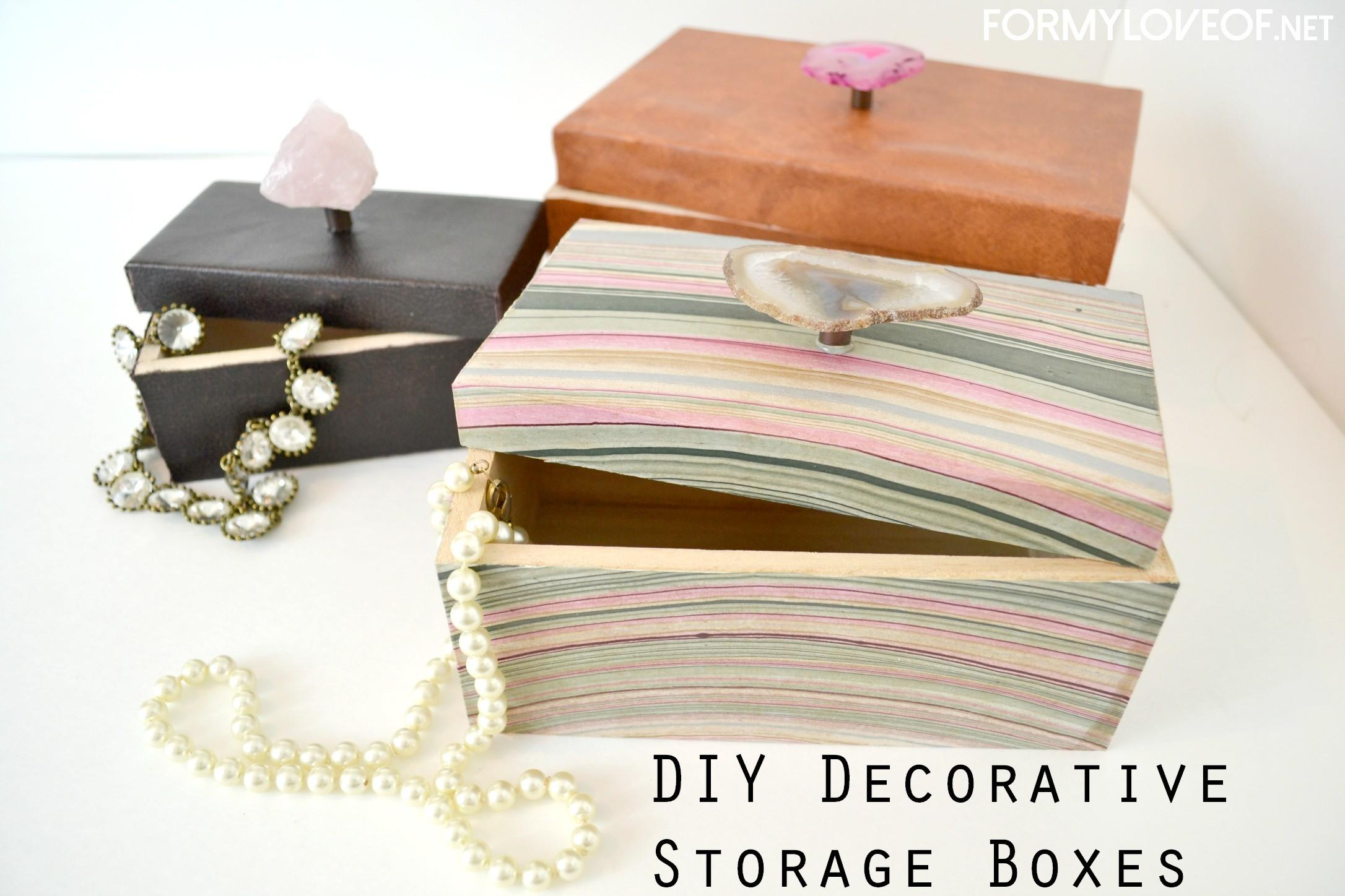 Diy Storage Boxes Marble Paper Leather Designer