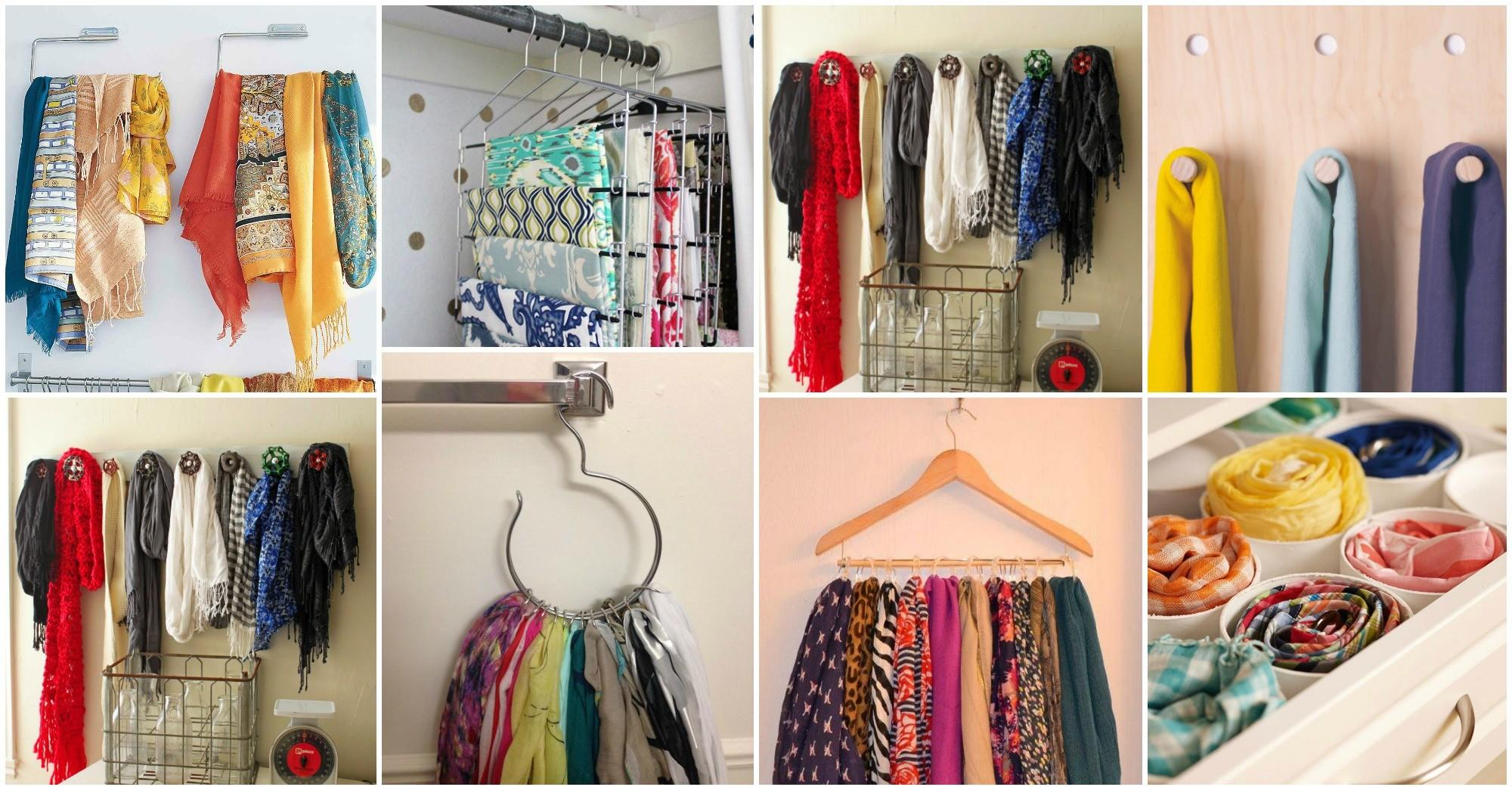 Diy Storage Hacks Girls Too Many Scarves