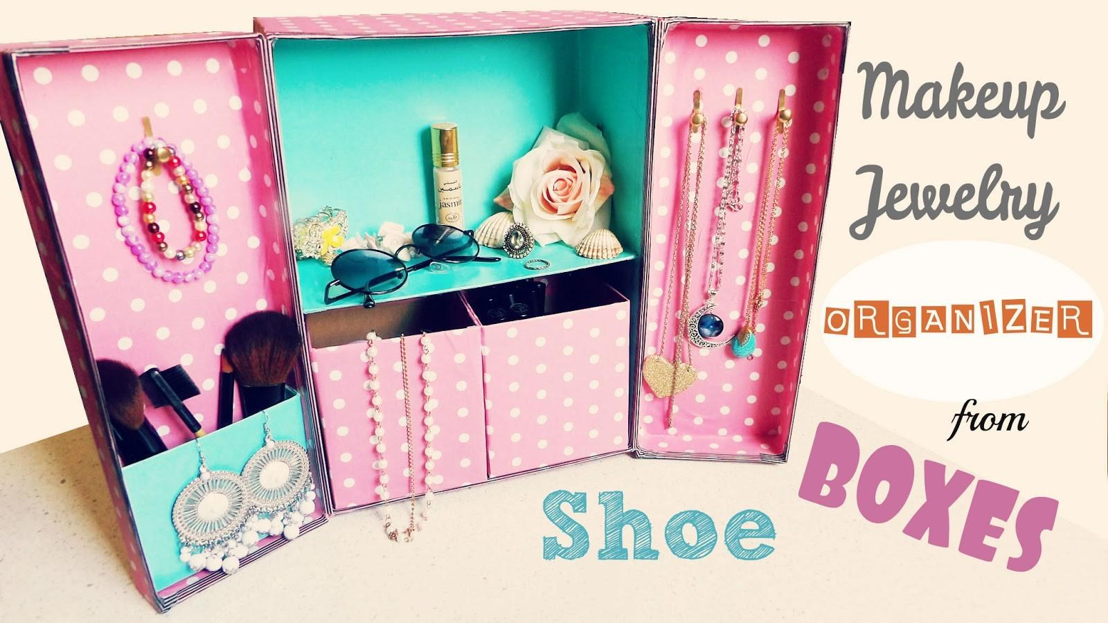 Diy Storage Ideas Makeup Jewelry Organizer Shoe