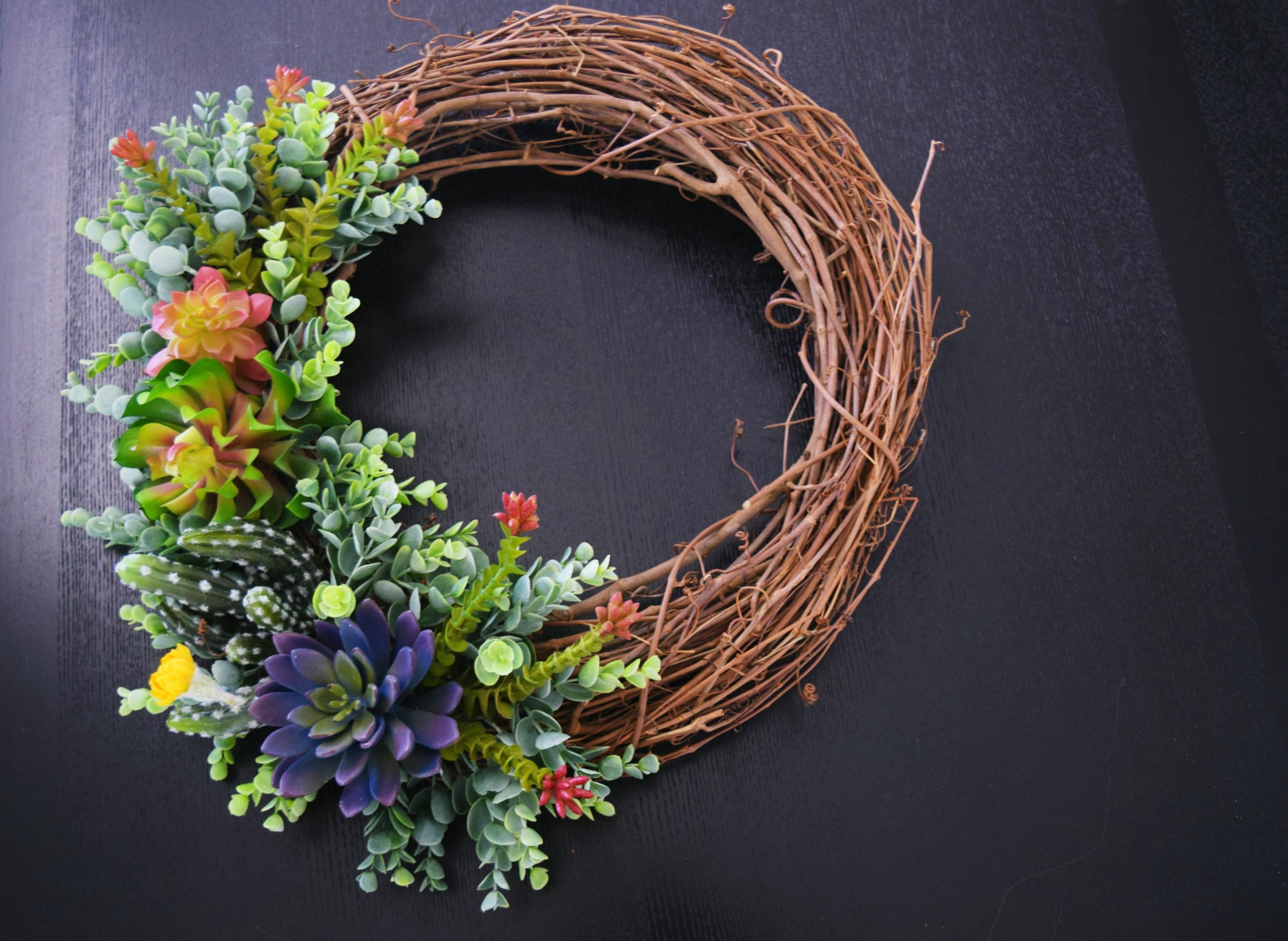 Diy Succulent Wreath Home Decor Hobby Lobby Decoration