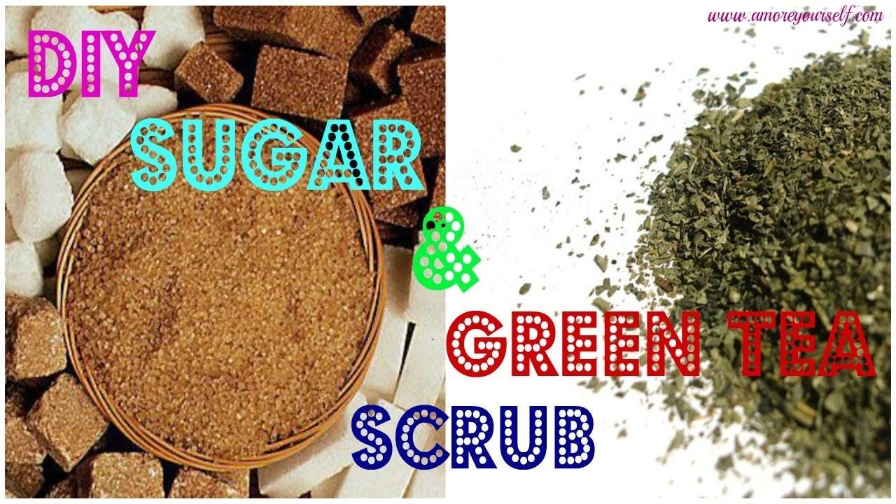 Diy Sugar Green Tea Scrub Mask