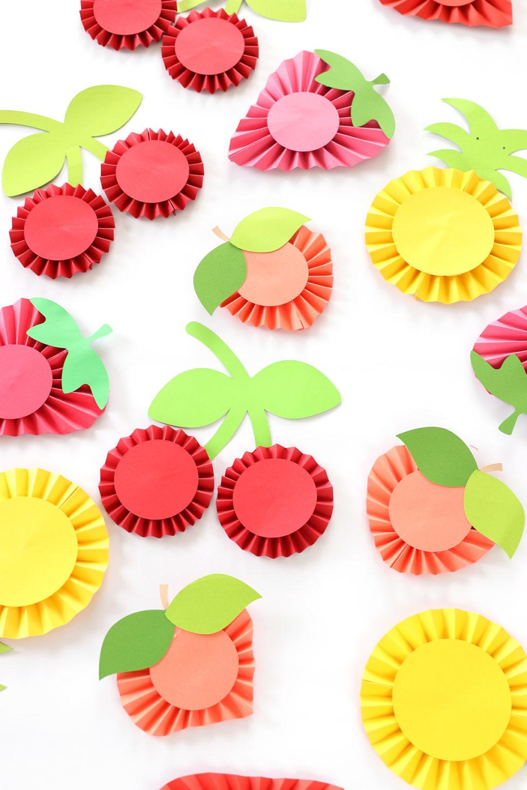 Diy Summer Fruit Paper Rosettes Damask Love Bloglovin