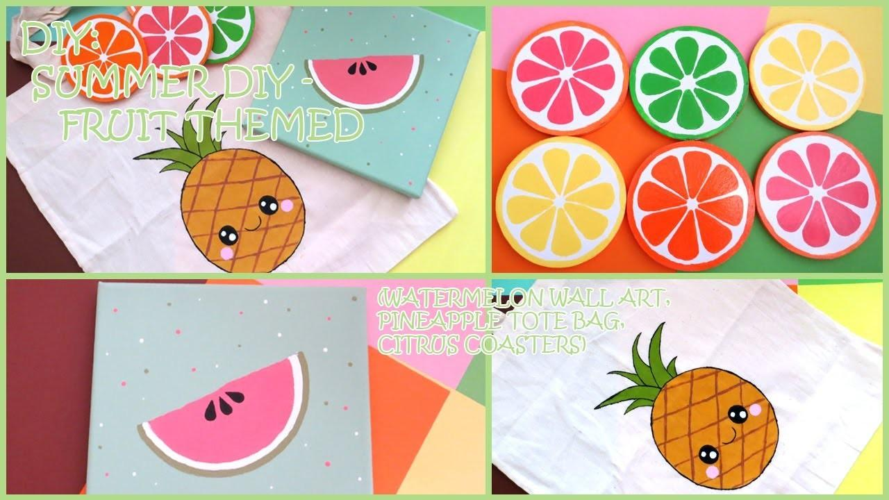 Diy Summer Fruit Themed Watermelon Wall Art