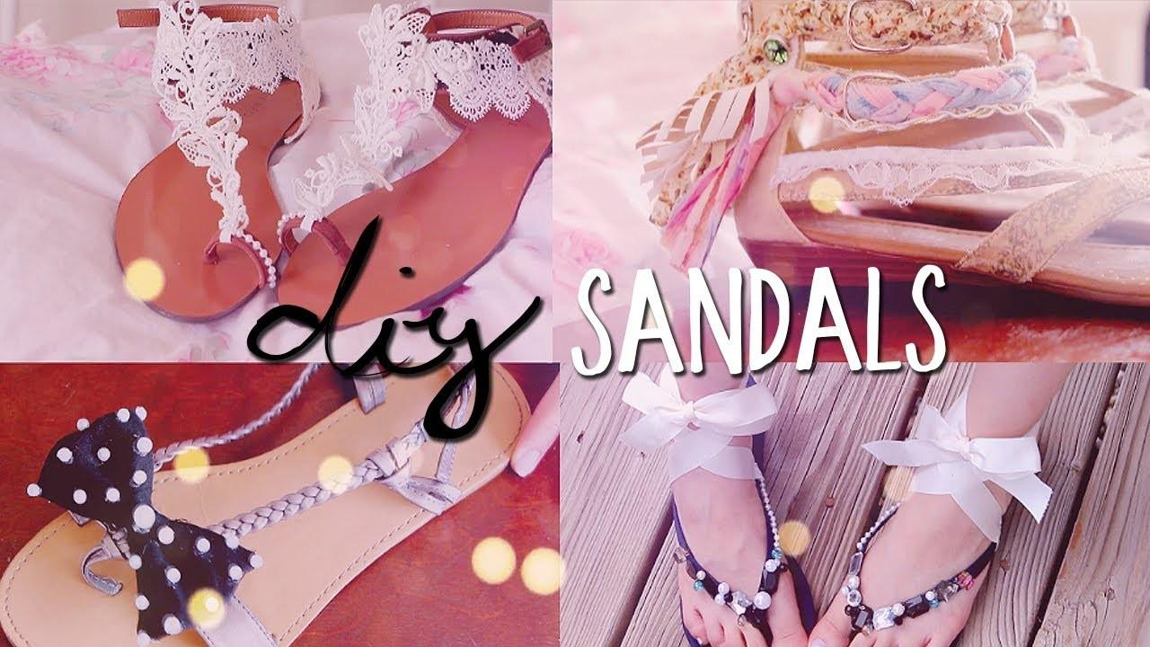Diy Summer Sandals Styles Redecorate Restyle Your