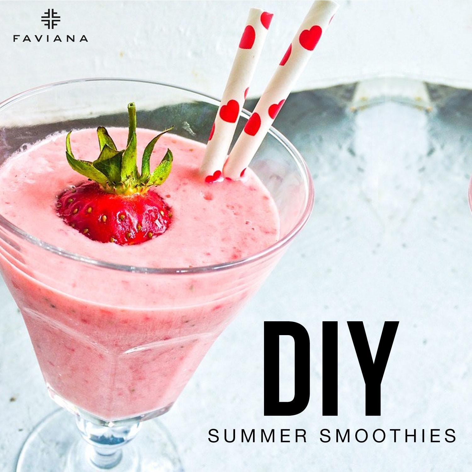 Diy Summer Smoothies Glam Gowns Blog