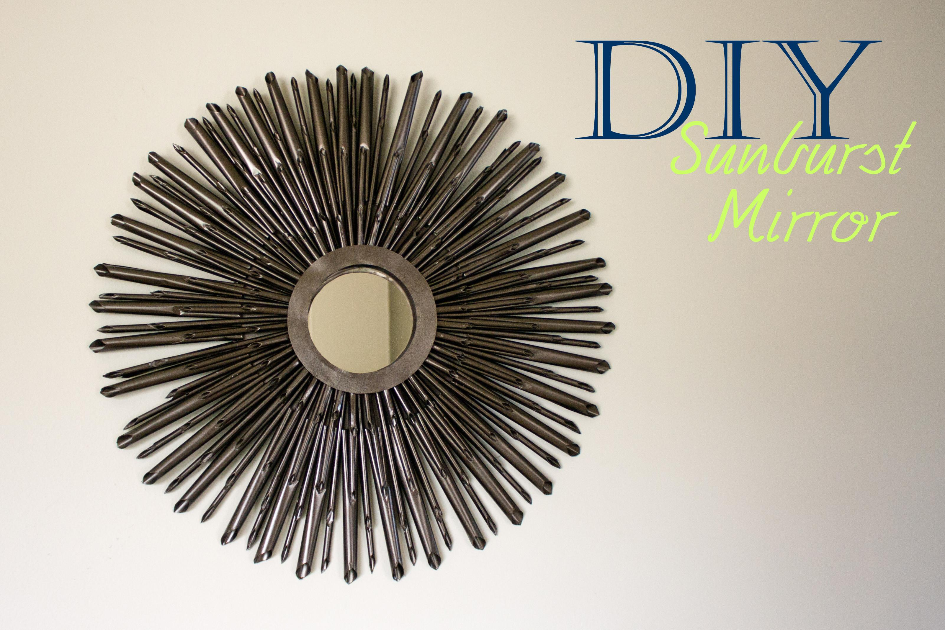 Diy Sunburst Mirror Tutorial Little Abandon