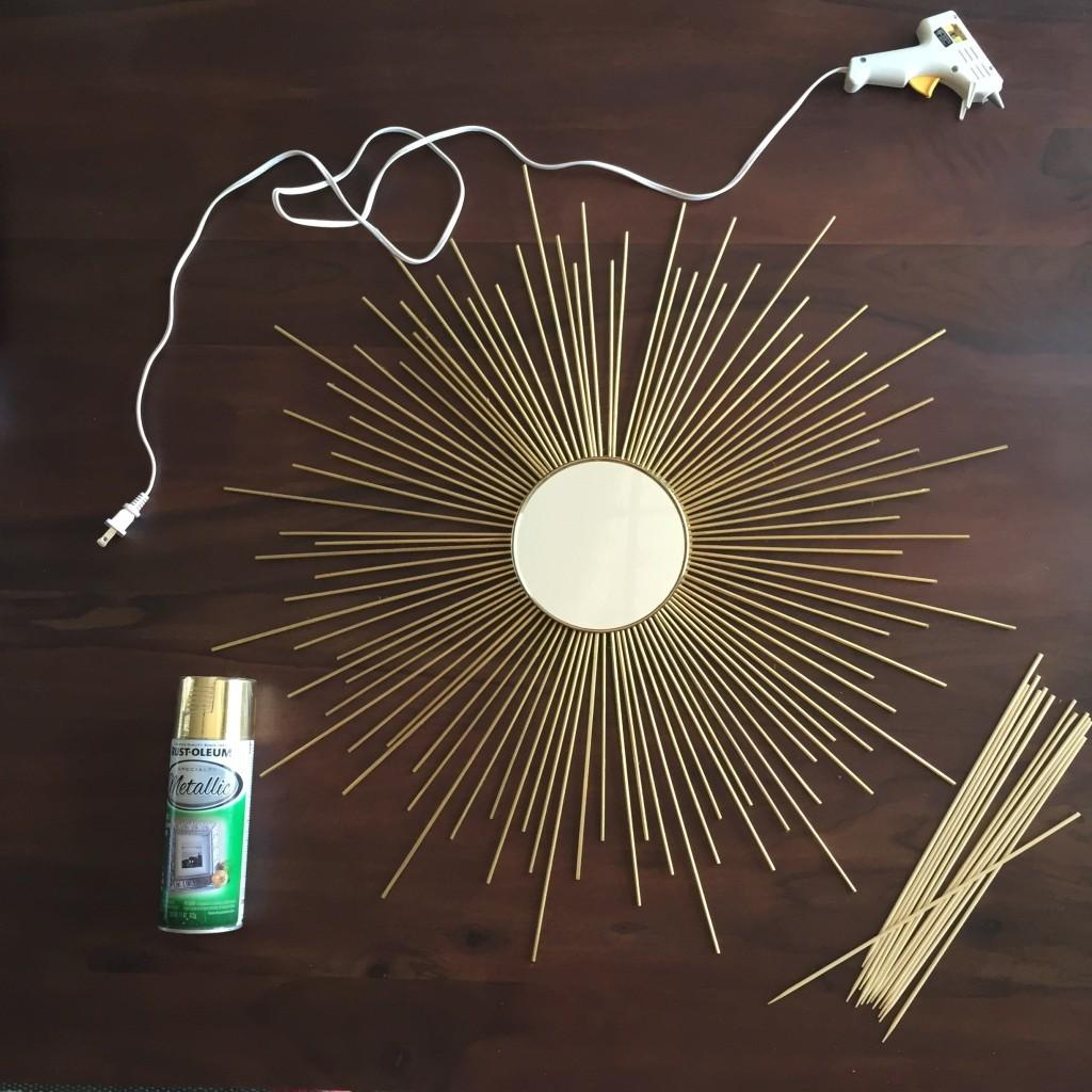 Diy Sunburst Mirror Under Little Daily Happiness