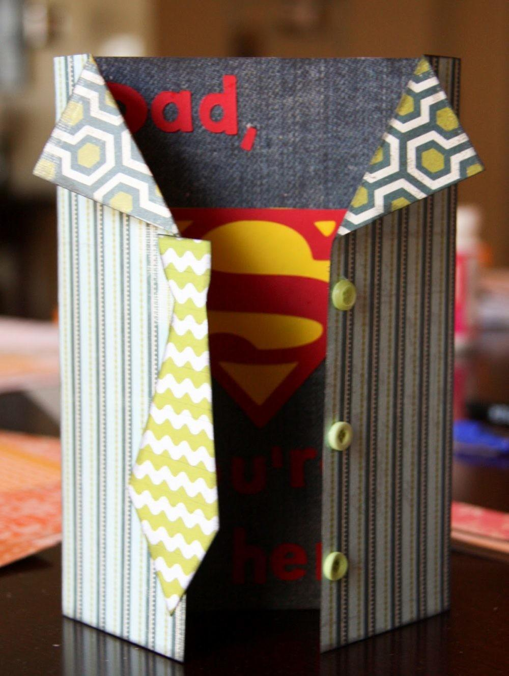 Diy Superman Super Hero Father Day Card Crafts Mom