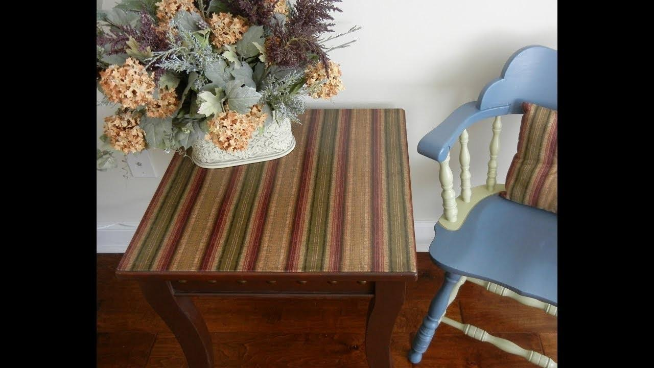Diy Table Fabric Decoupage Project Upcycling