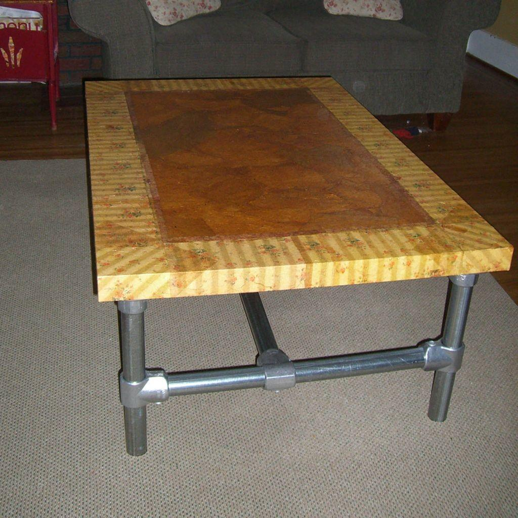 Diy Table Living Room Wooden Top Frame