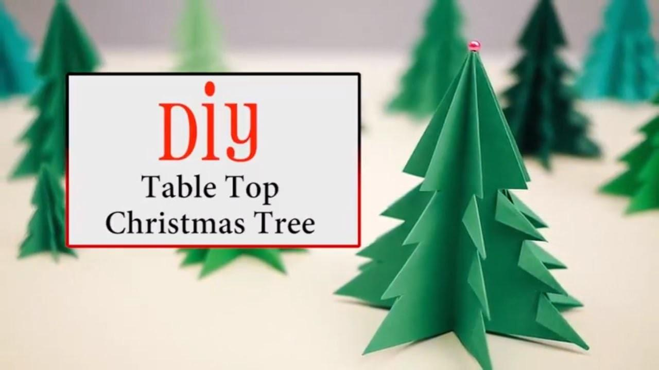 Diy Table Top Christmas Tree Ideas Inspiration