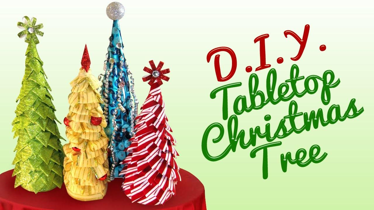 Diy Tabletop Christmas Tree Viyoutube