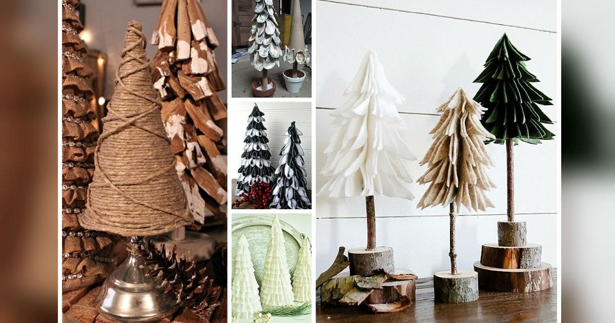 Diy Tabletop Christmas Trees Easy Budget