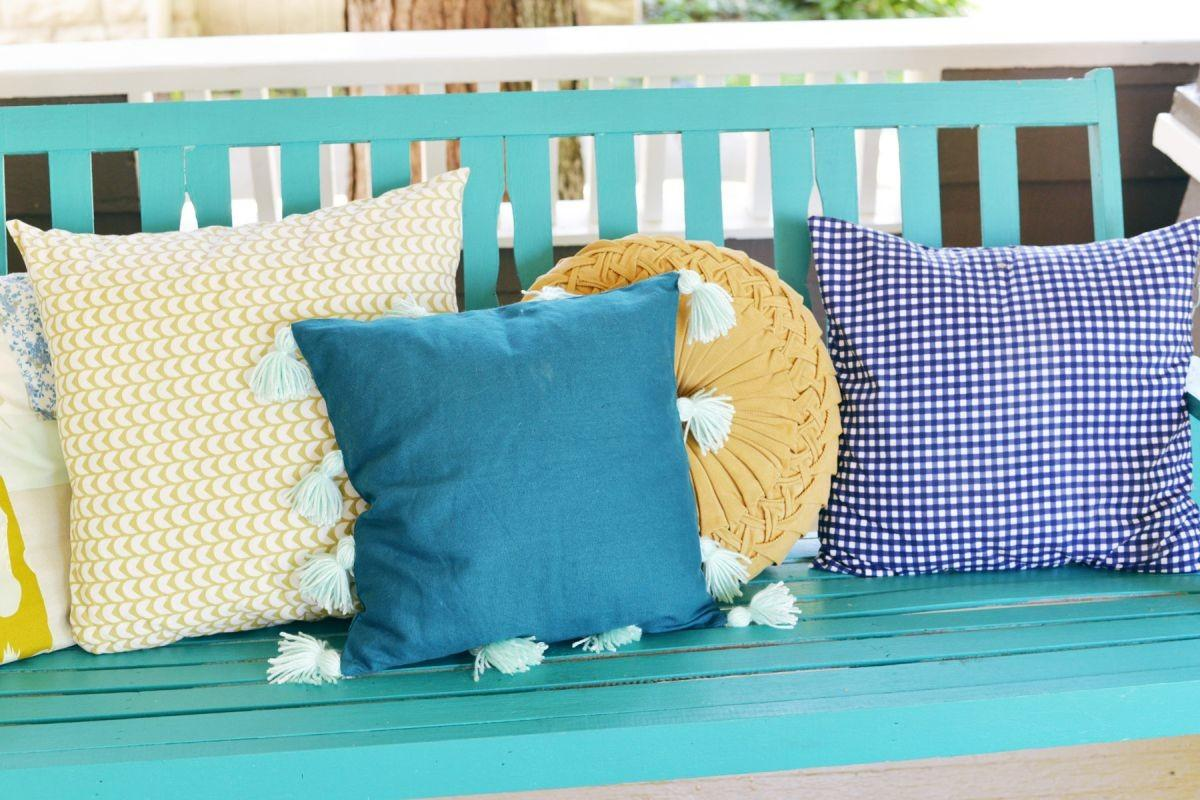 Diy Tassel Pillow Turquoise Color Home Decorating Trends