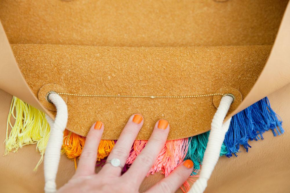 Diy Tassel Tote Bag Tell Love Party