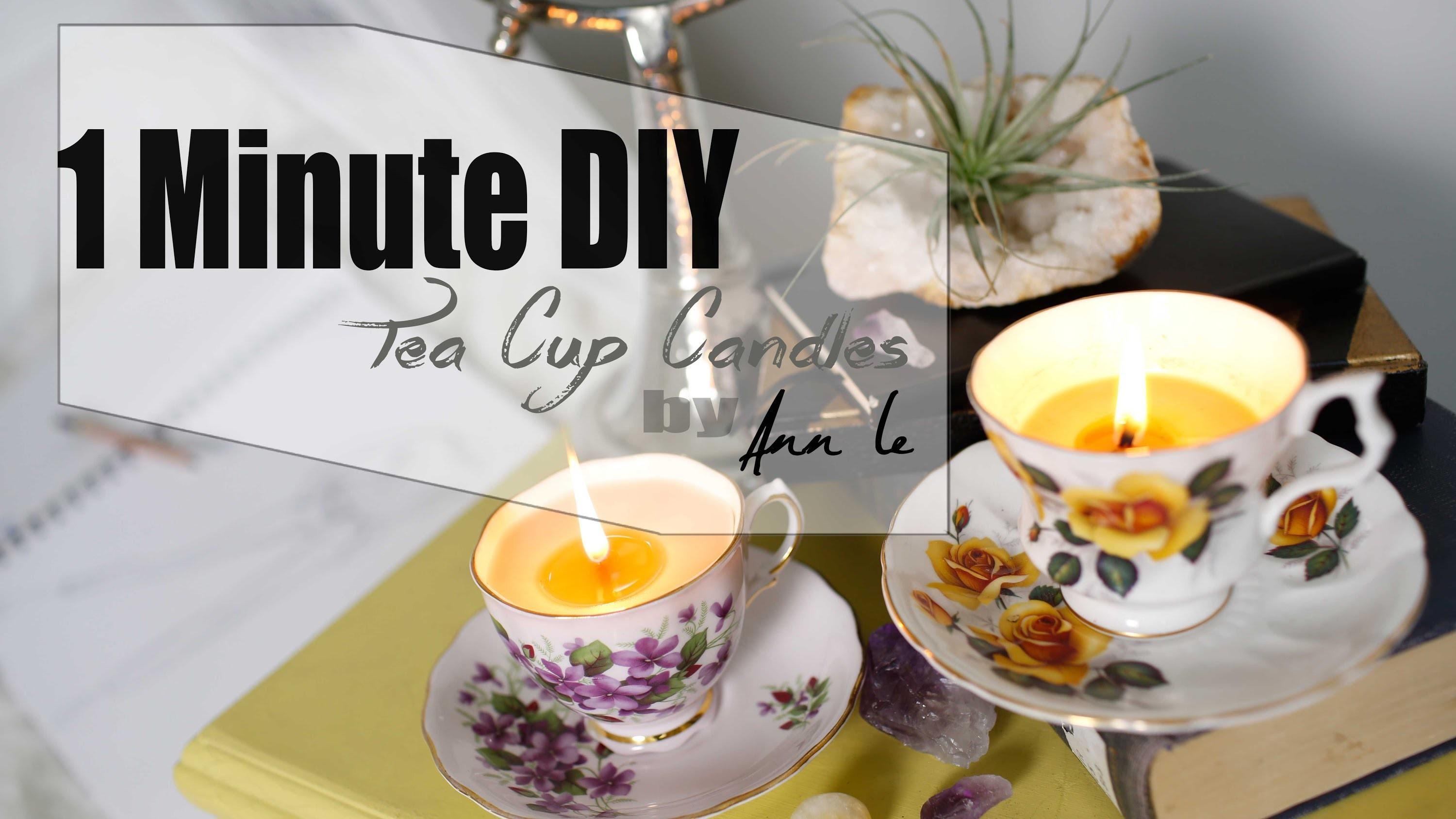 Diy Tea Cup Candles Wedding Decor Ann