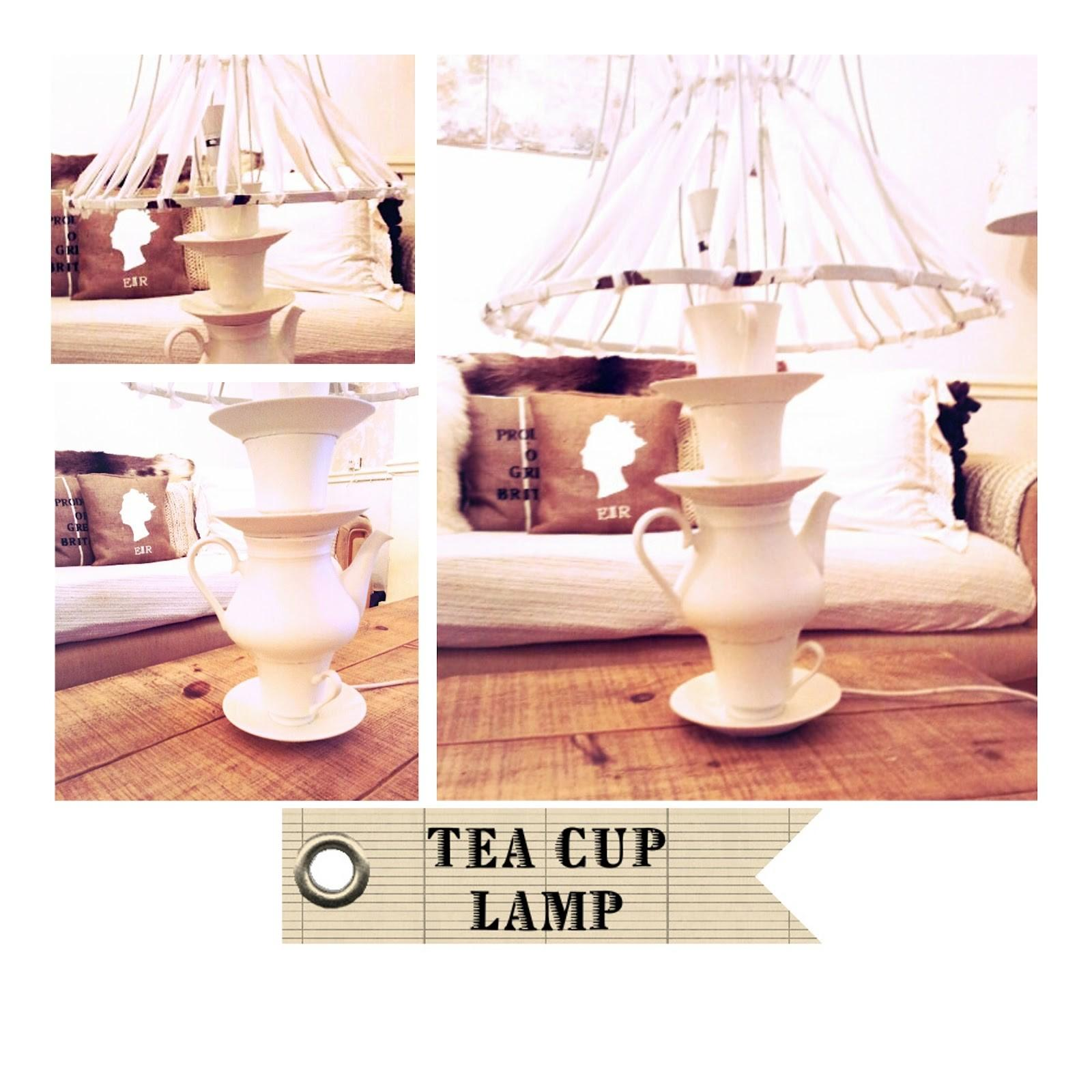 Diy Tea Cup Lamp Tutorial Twigg Studios