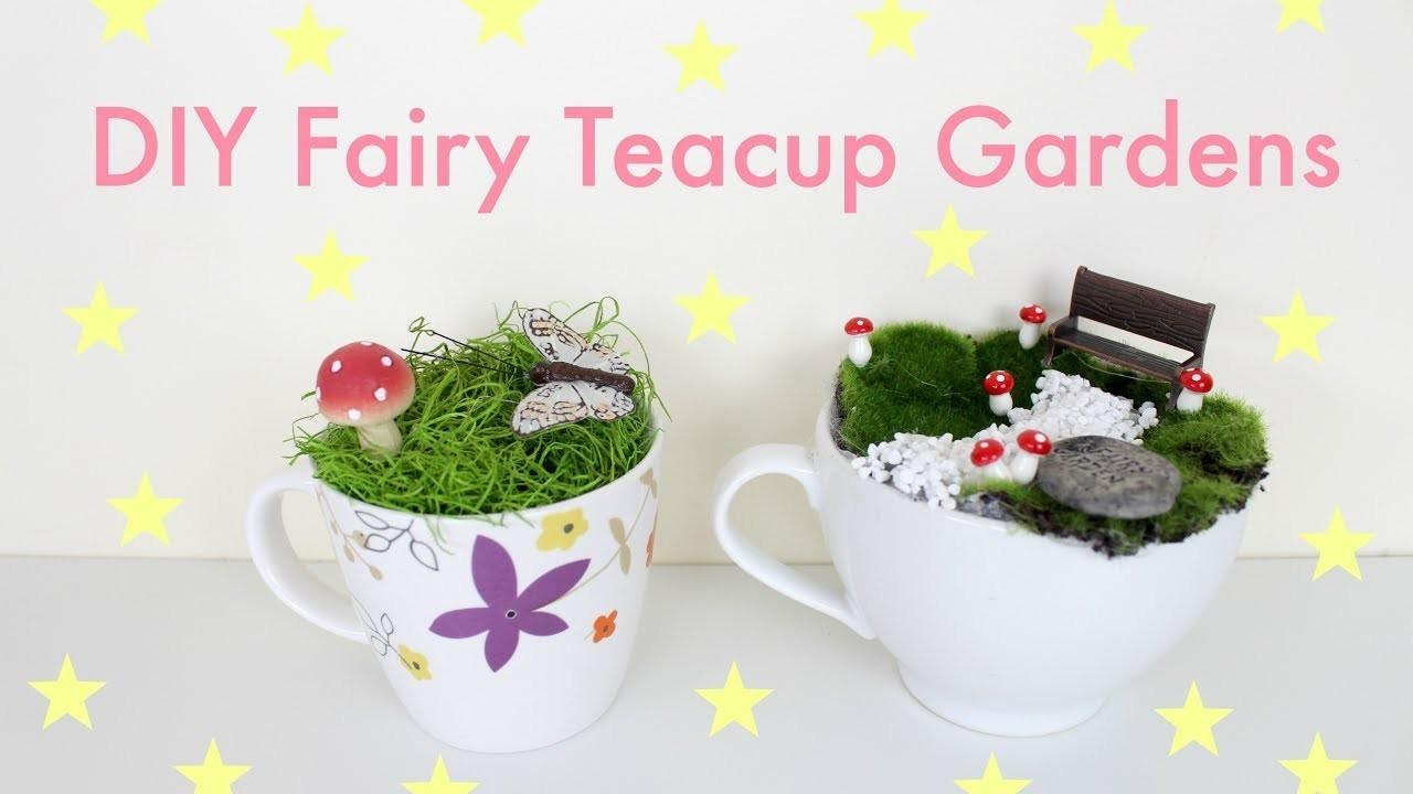 Diy Teacup Fairy Gardens Crafts Projects