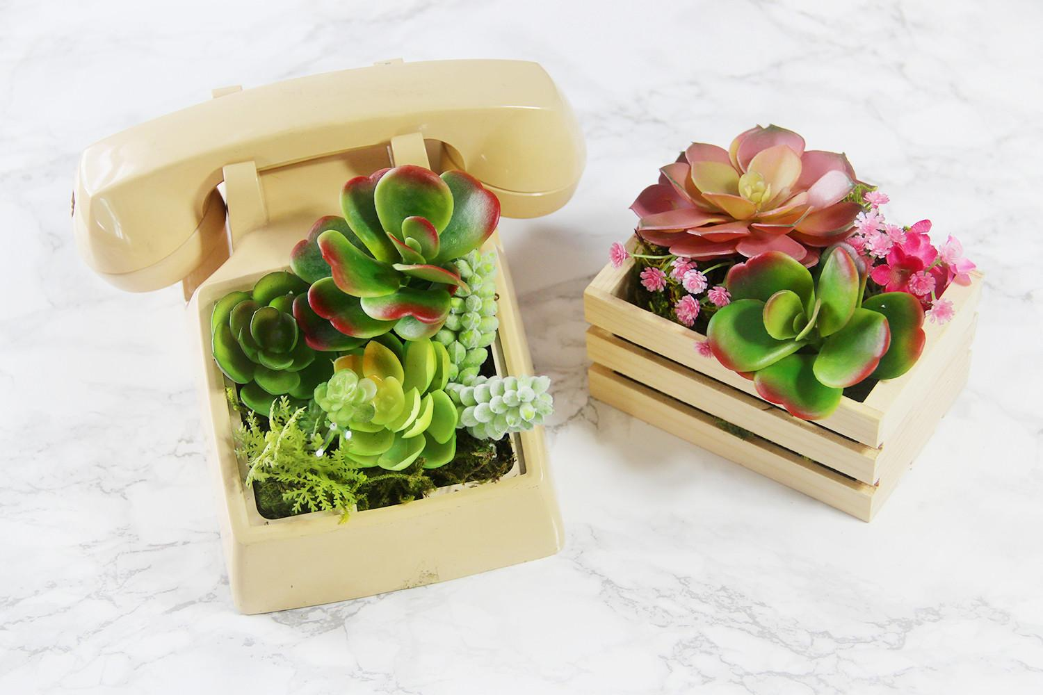 Diy Telephone Planter Other Artificial Ideas