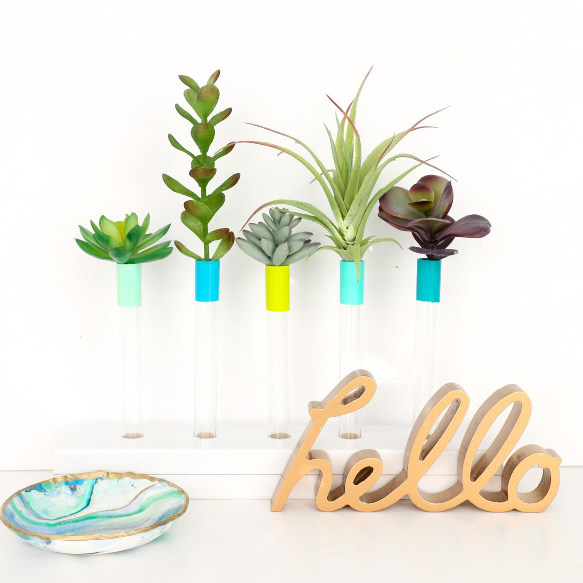 Diy Test Tube Bud Vase Kailo Chic Life