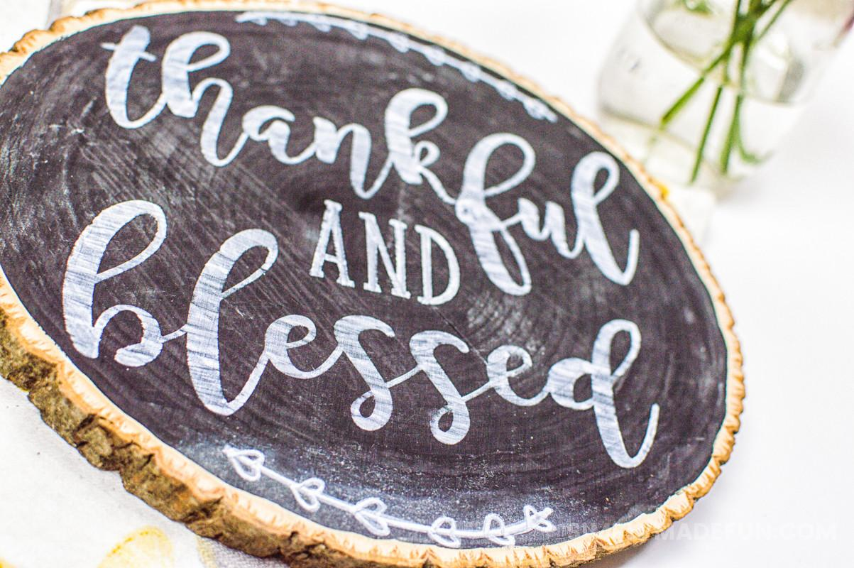 Diy Thankful Chalkboard