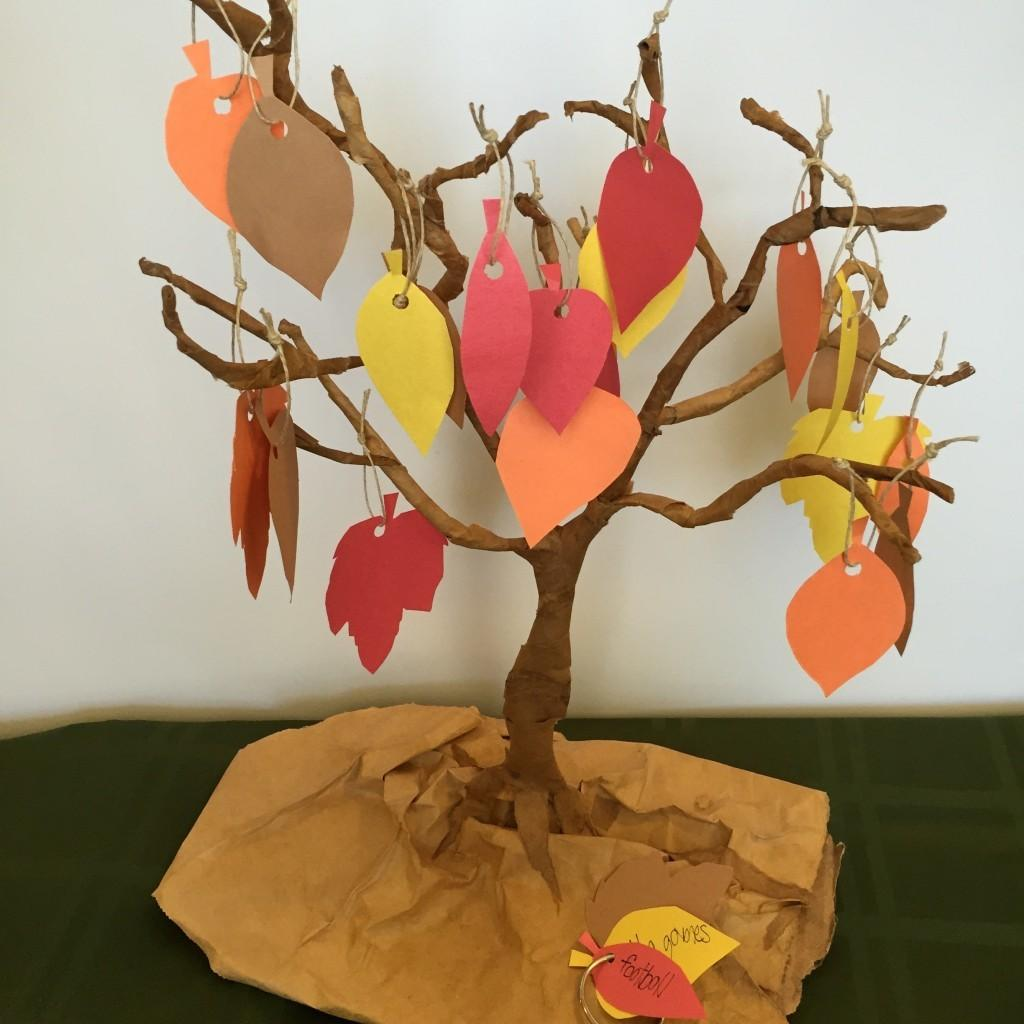 Diy Thankful Tree Decoration Activity One