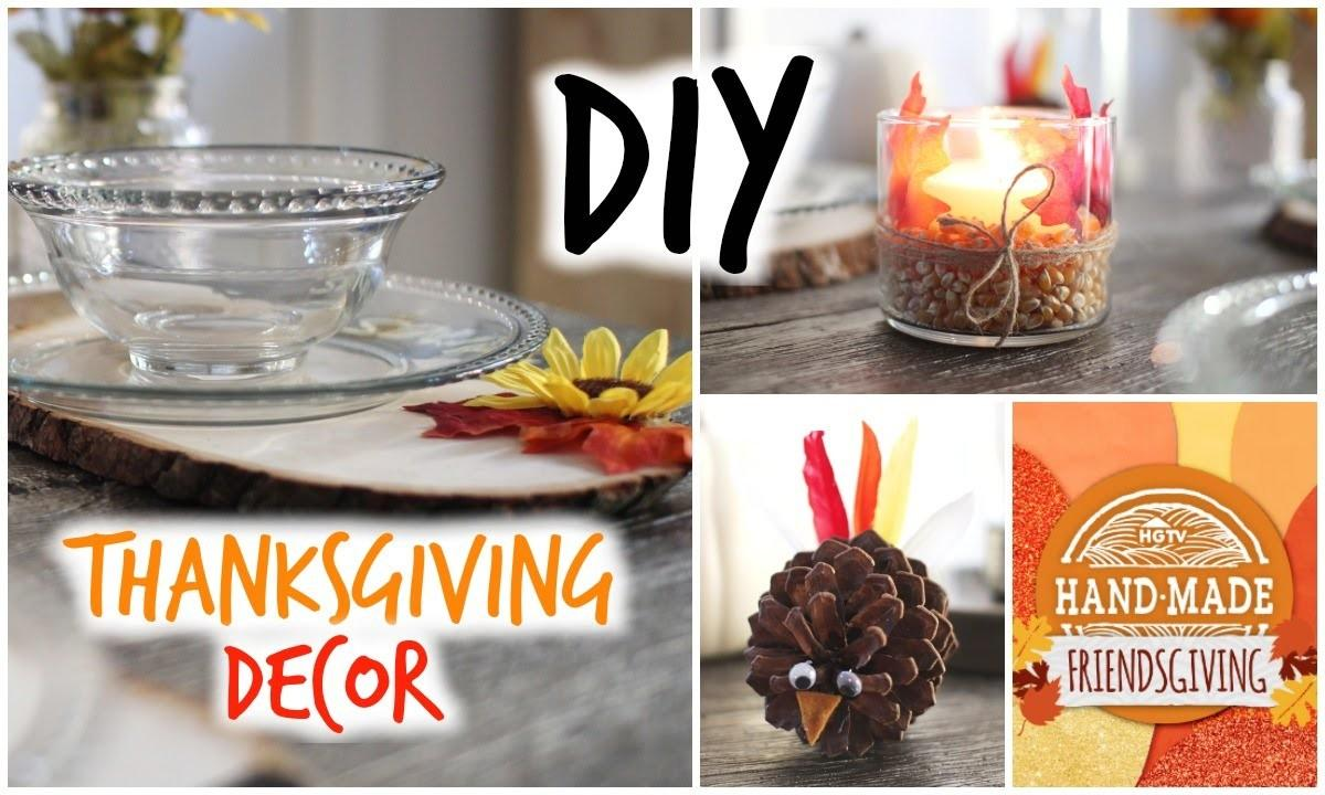 Diy Thanksgiving Decor Cute Affordable