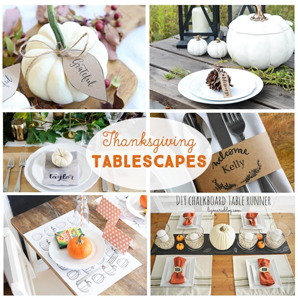 Diy Thanksgiving Tablescapes Crafting Chicks