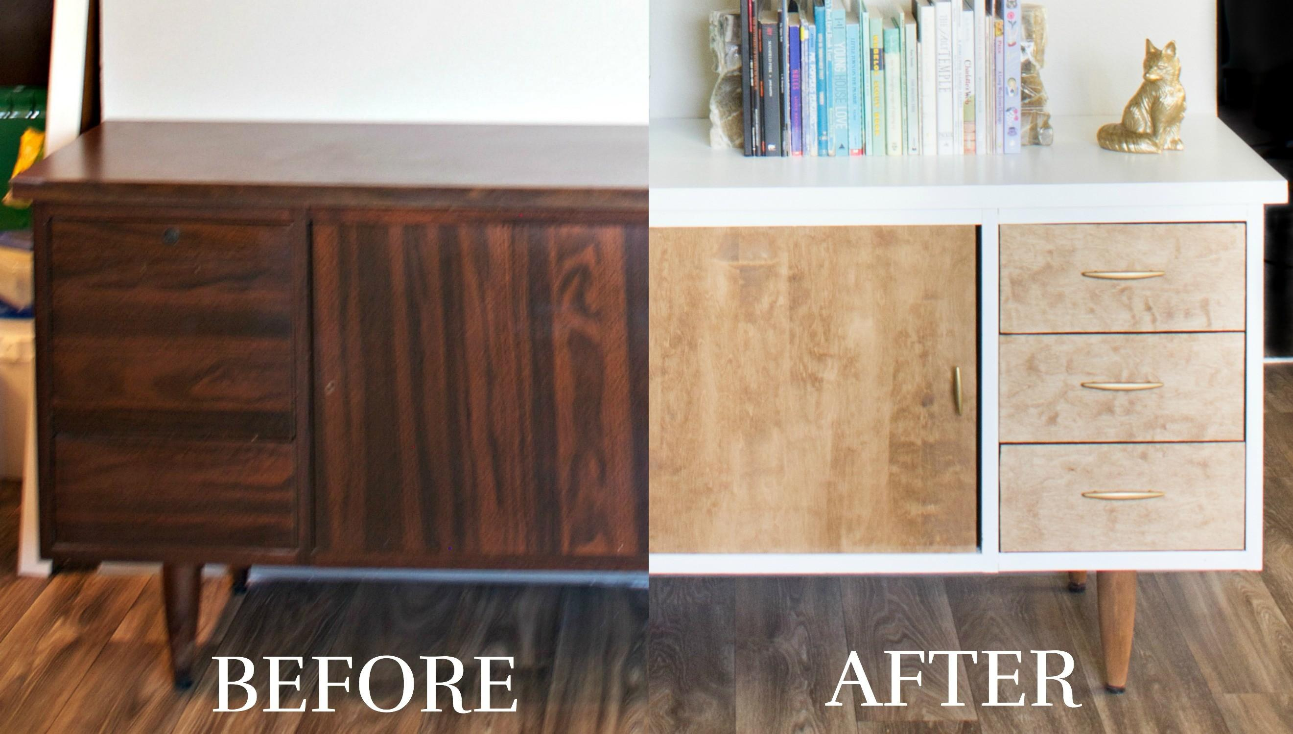 Diy Thrifted Credenza Makeover Hannahbook