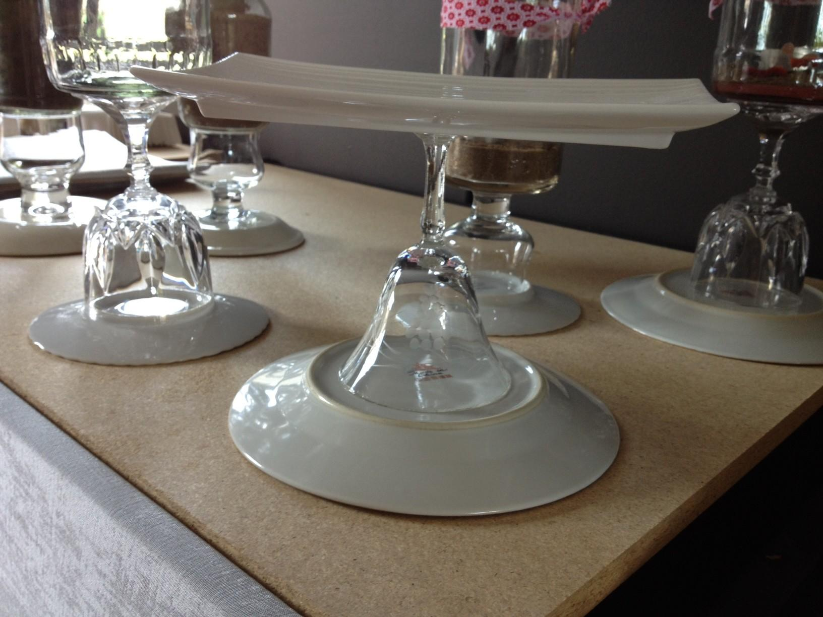 Diy Tiered Cake Stand Plates Before2 Inspiration
