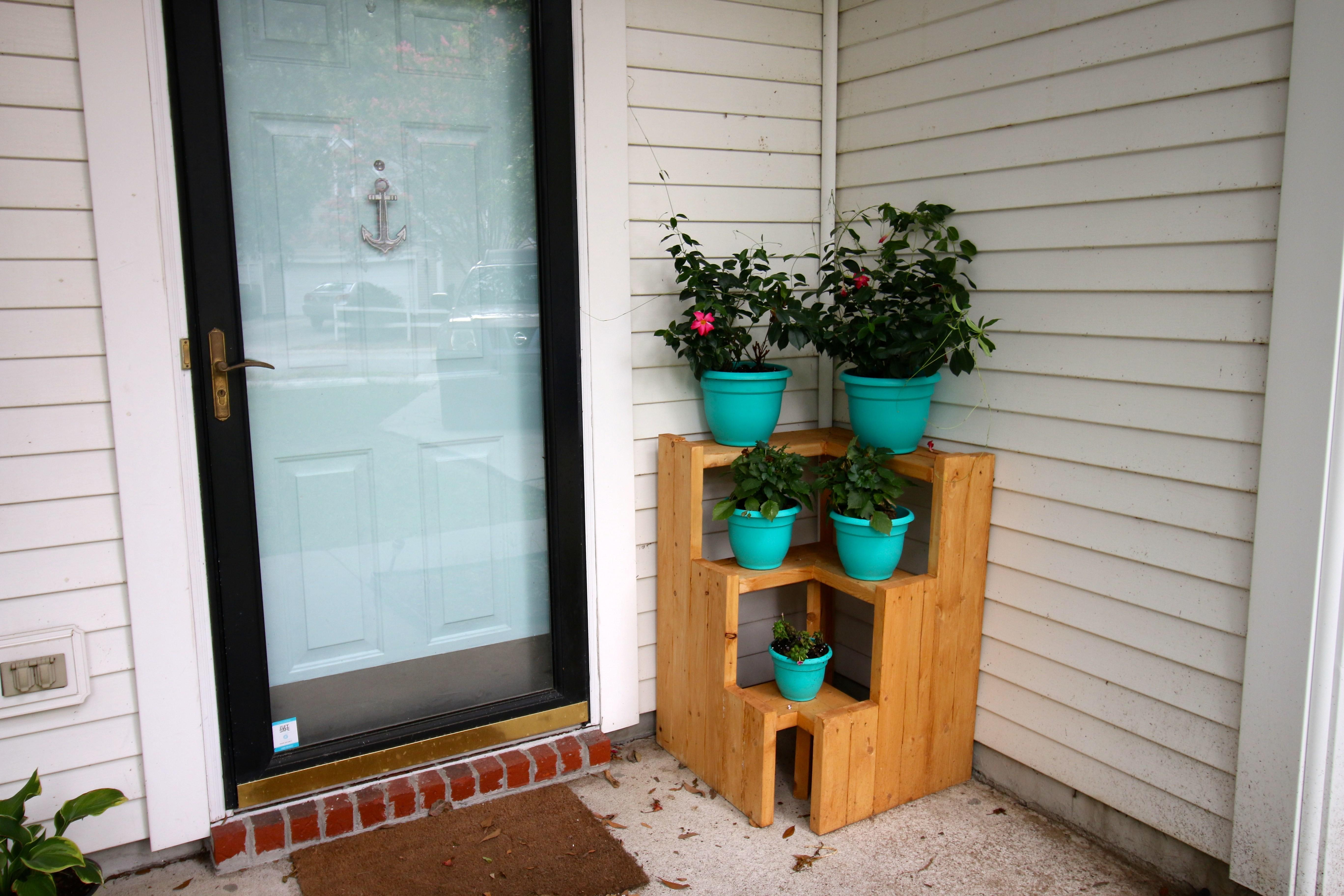 Diy Tiered Corner Plant Stand Charleston Crafted