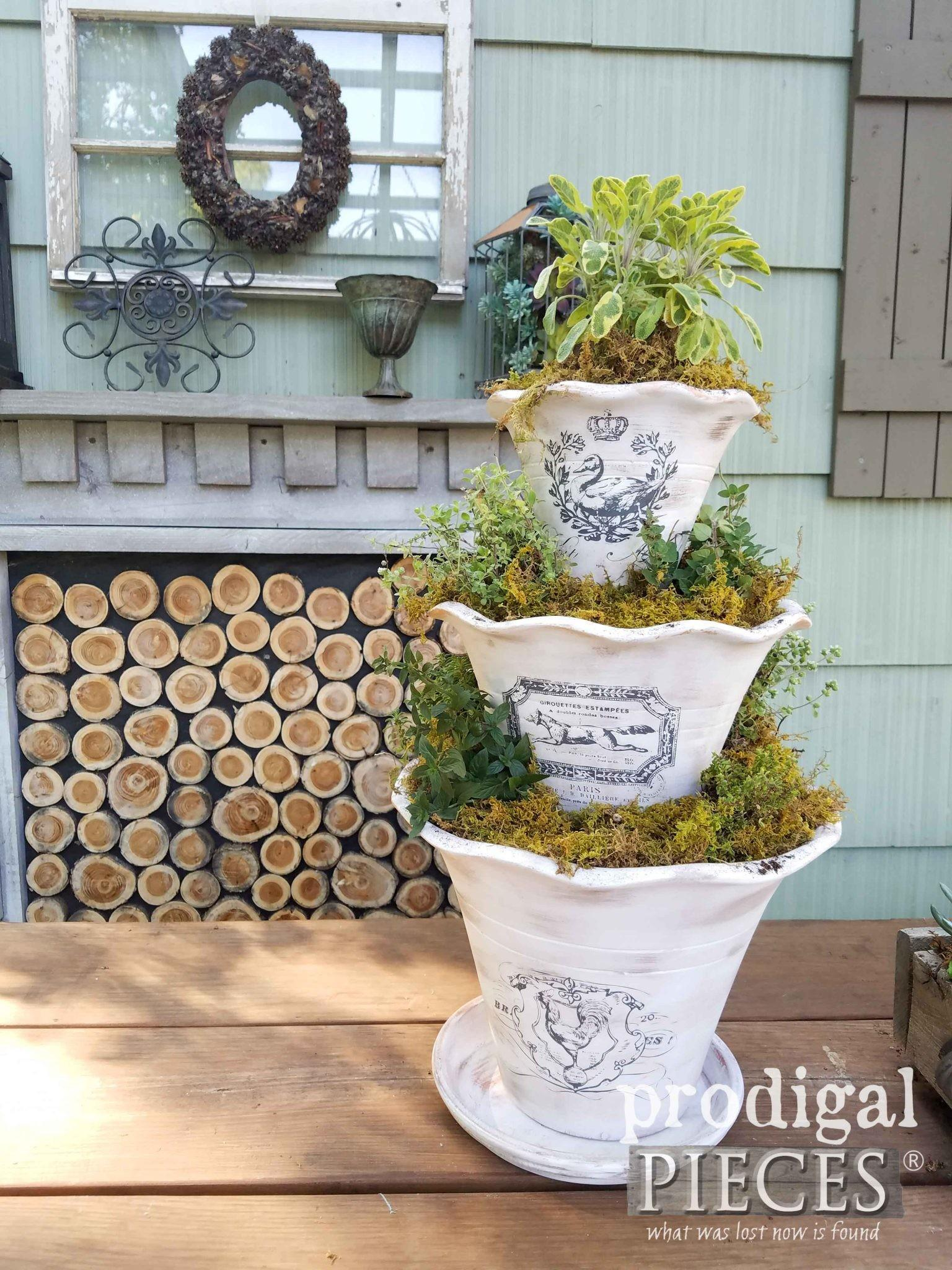 Diy Tiered Planter French Graphics Prodigal Pieces