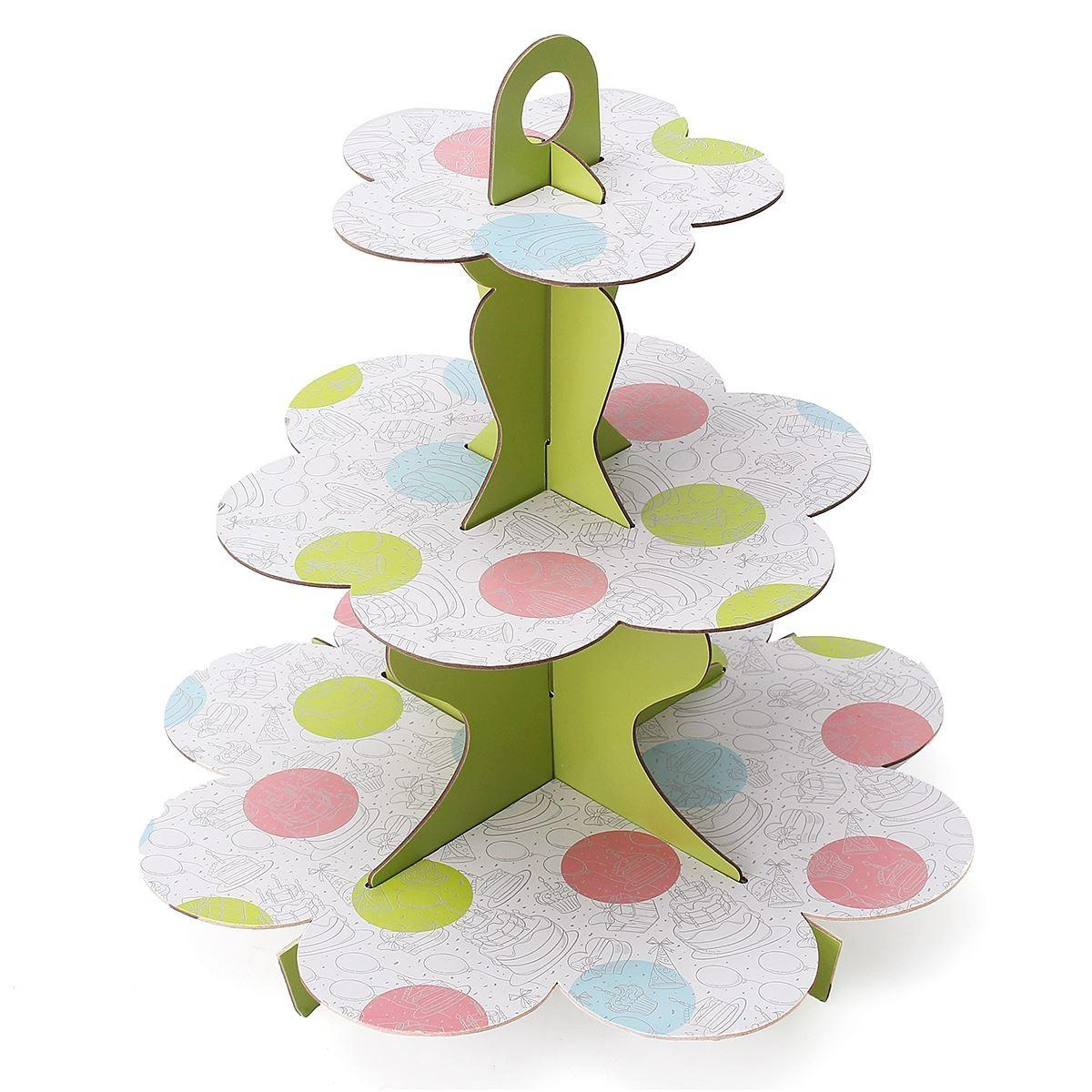 Diy Tiers Paper Cupcake Stand Dessert Candy Storage