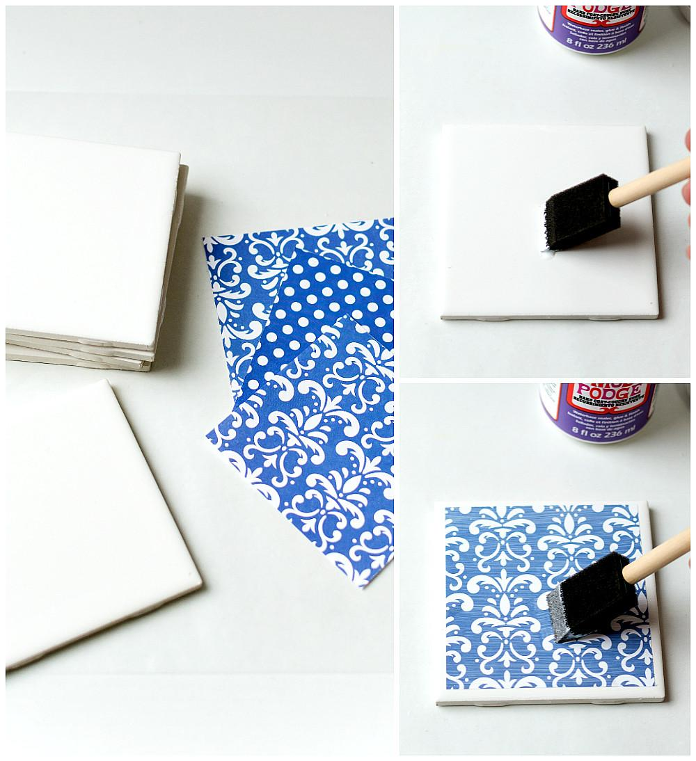 Diy Tile Coasters All Started Paint