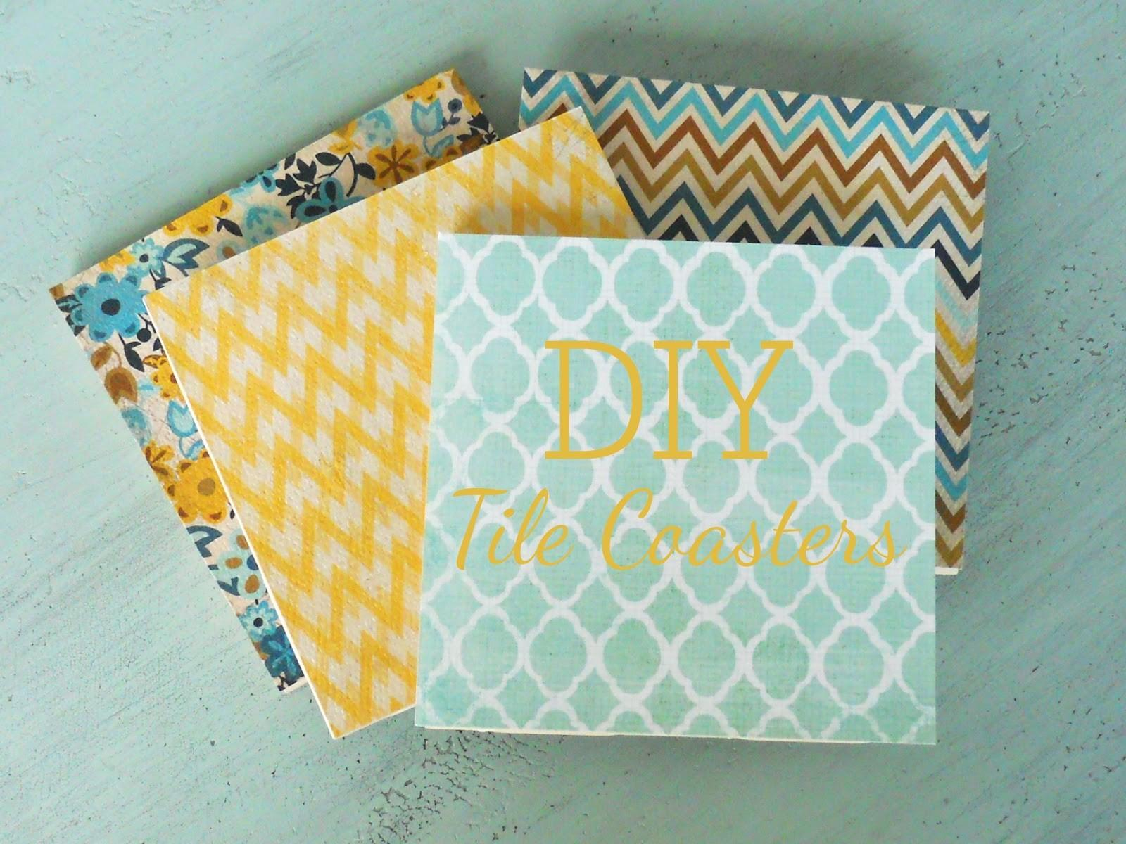 Diy Tile Coasters Delightfully Noted